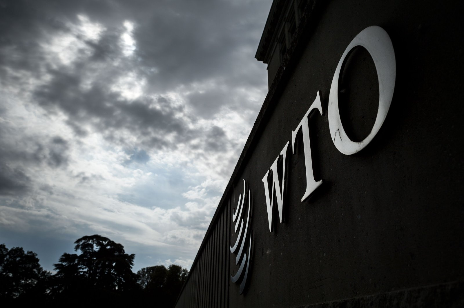 the logo of the World Trade Organization (WTO) as seen at their headquarters, Geneva, Switzerland. (AFP Photo)