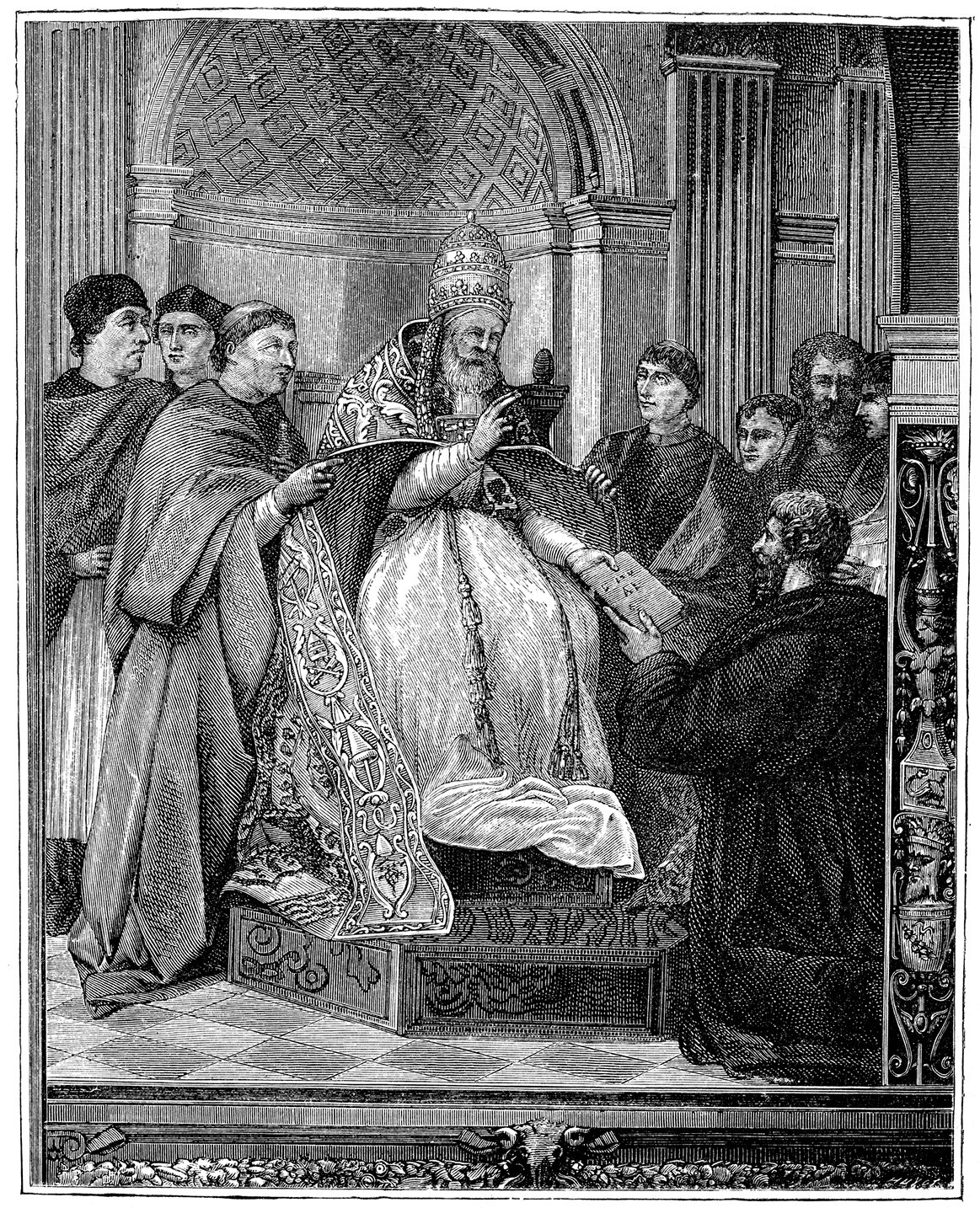 Vintage engraving of Pope Gregory IX. (iStock Photo)
