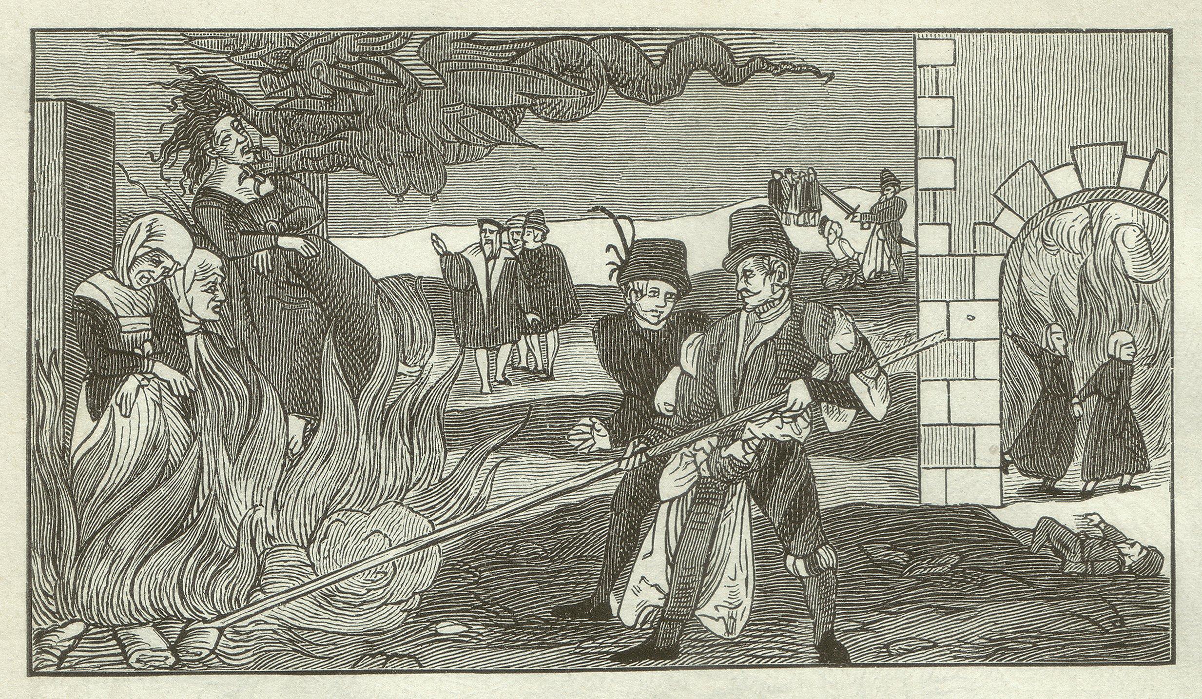 A witch burning in the Reinstein county of Regenstein, Saxony-Anhalt, Germany in 1555. (iStock Photo)