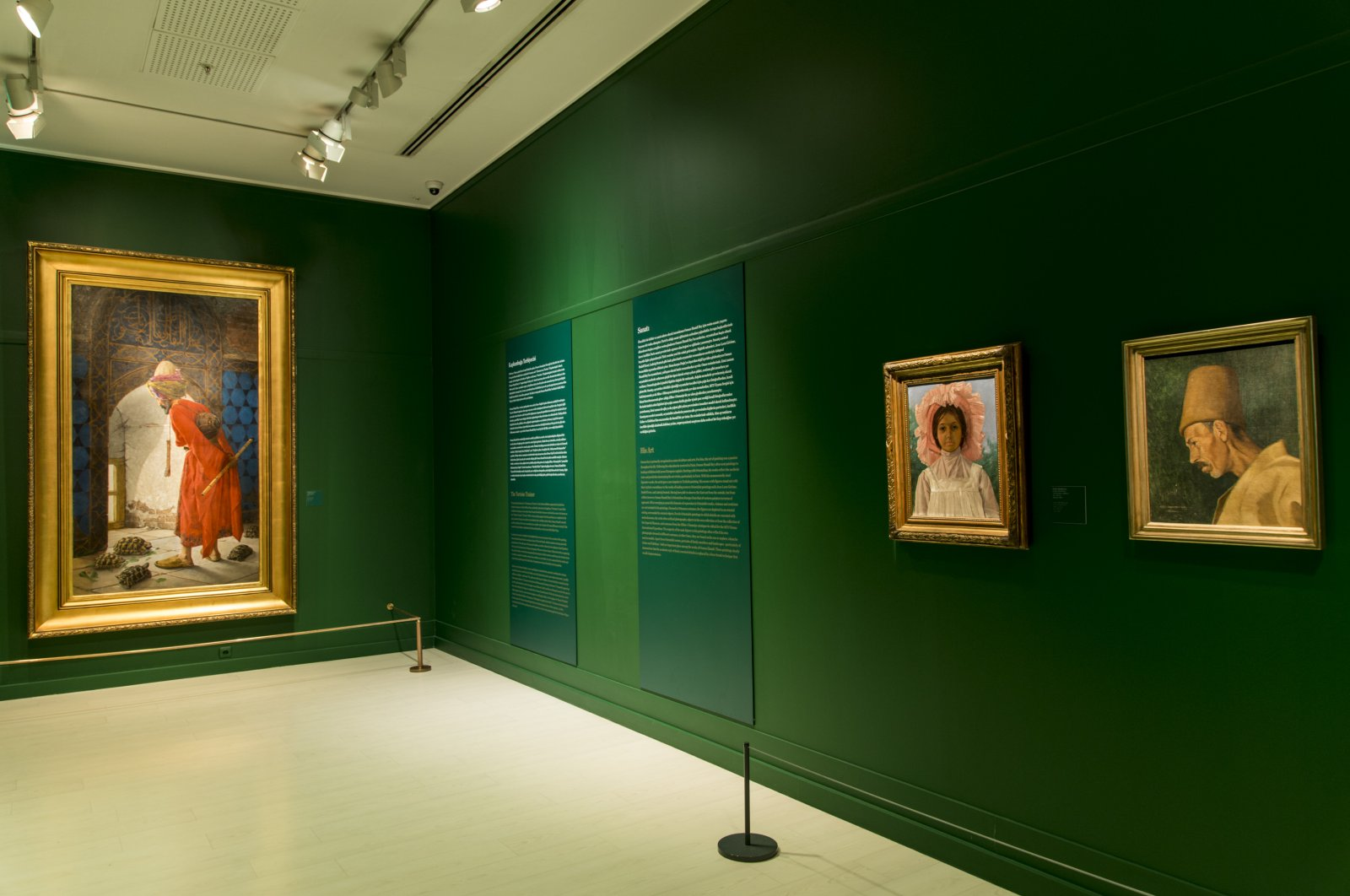 """A view of the """"Osman Hamdi Bey"""" exhibit at Pera Museum."""