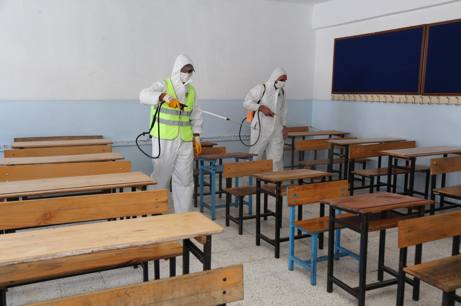 Schools are being disinfected countrywide as exams approach. (IHA File Photo)