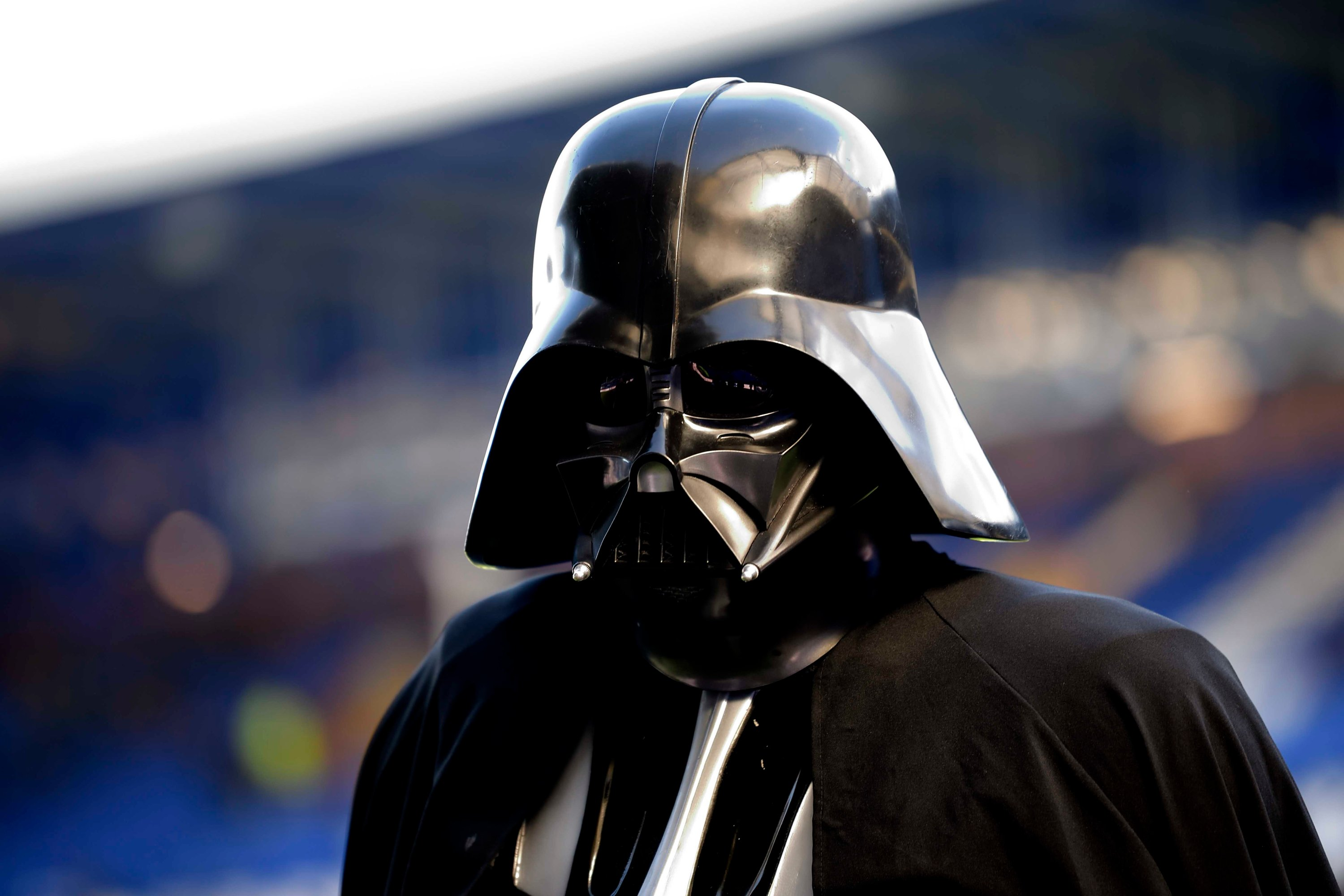 Darth Vader at Goodison Park before the Premier League match between Everton FC and Manchester United at Goodison Park, Liverpool, England, March 1, 2020. (Everton FC via Getty Images)