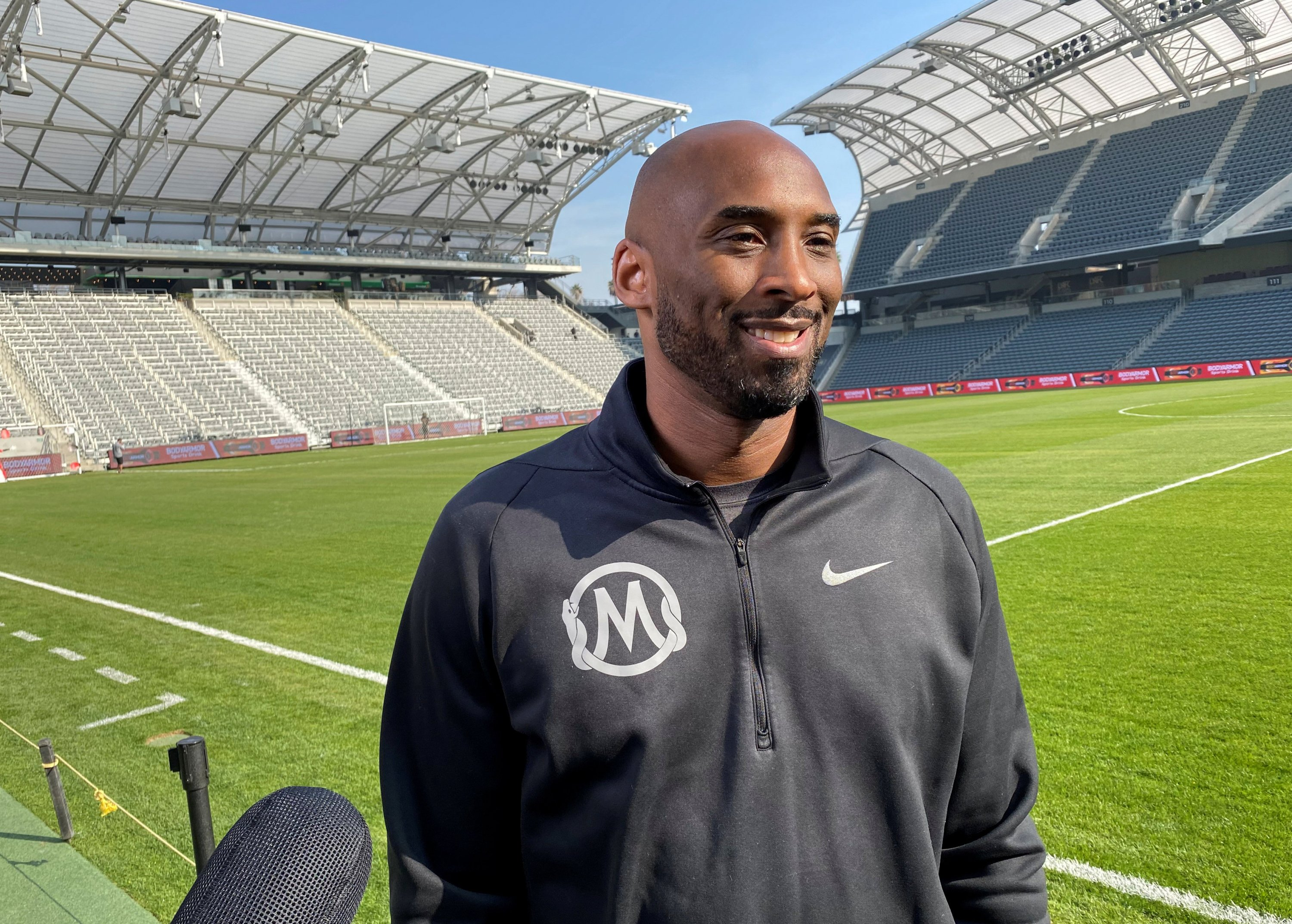 Former Los Angeles Lakers guard Kobe Bryant speaks to reporters at a Major League Soccer event in downtown Los Angeles, California, U.S., Jan. 15, 2020. (Reuters Photo)