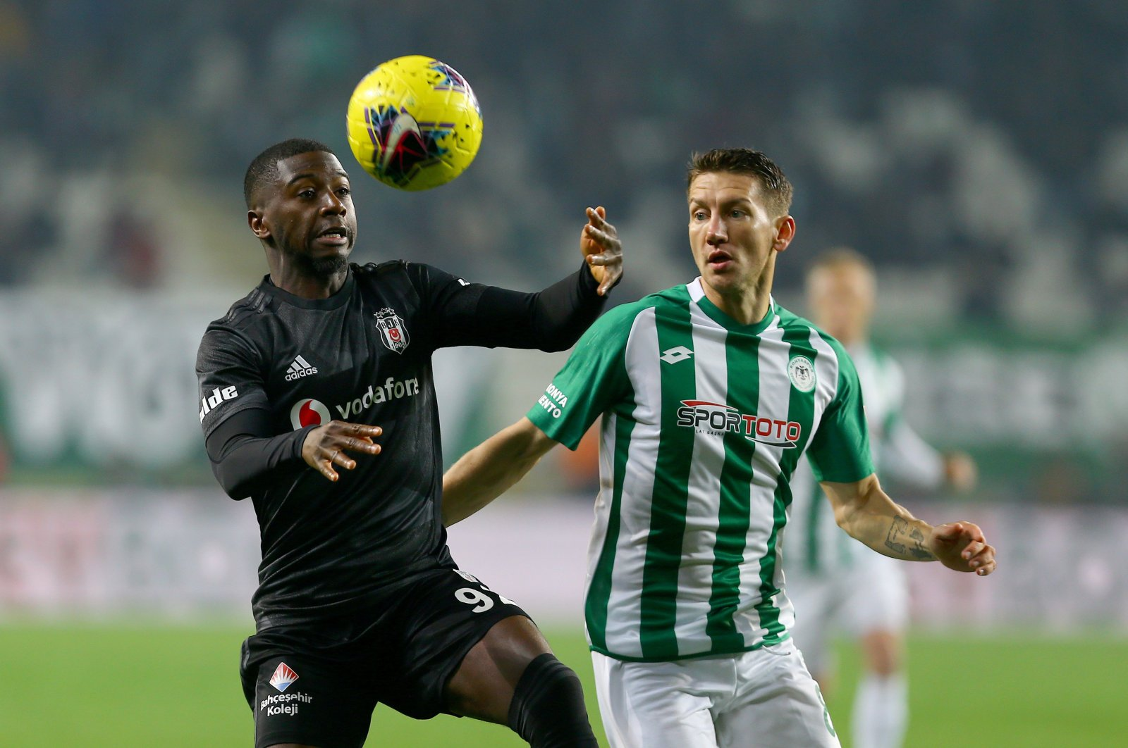 Beşiktaş's Abdoulay Diaby, who is on loan from Portugal's Sporting CP, during a Süper Lig match against Konyaspor, in Konya, Turkey, Nov. 23, 2019. (AA Photo)