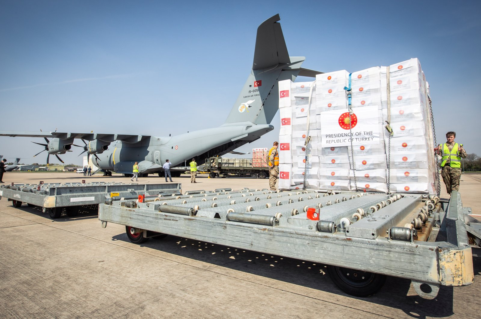 Turkey has provided humanitarian supplies to nearly 130 countries during the pandemic, making it the world's third-largest provider of aid during the global crisis. (REUTERS Photo)