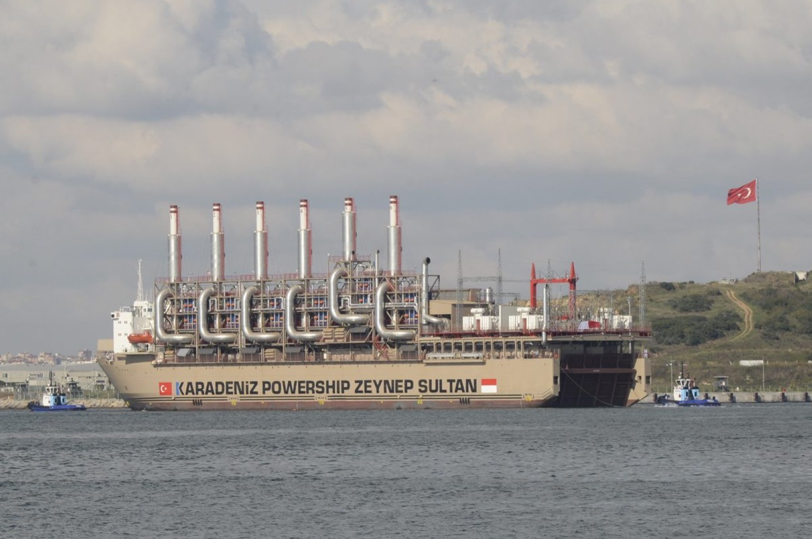 Karadeniz Holding's powership, Zeynep Sultan, seen in Tuzla, Istanbul, before sailing to Indonesia to meet the country's energy needs, Oct. 31, 2015.