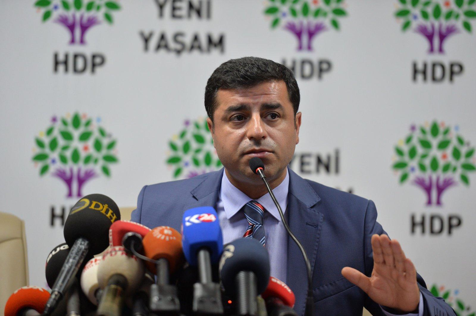 Former HDP Co-chair Selahaddin Demirtaş. (PHOTO BY ALI EKEYILMAZ)