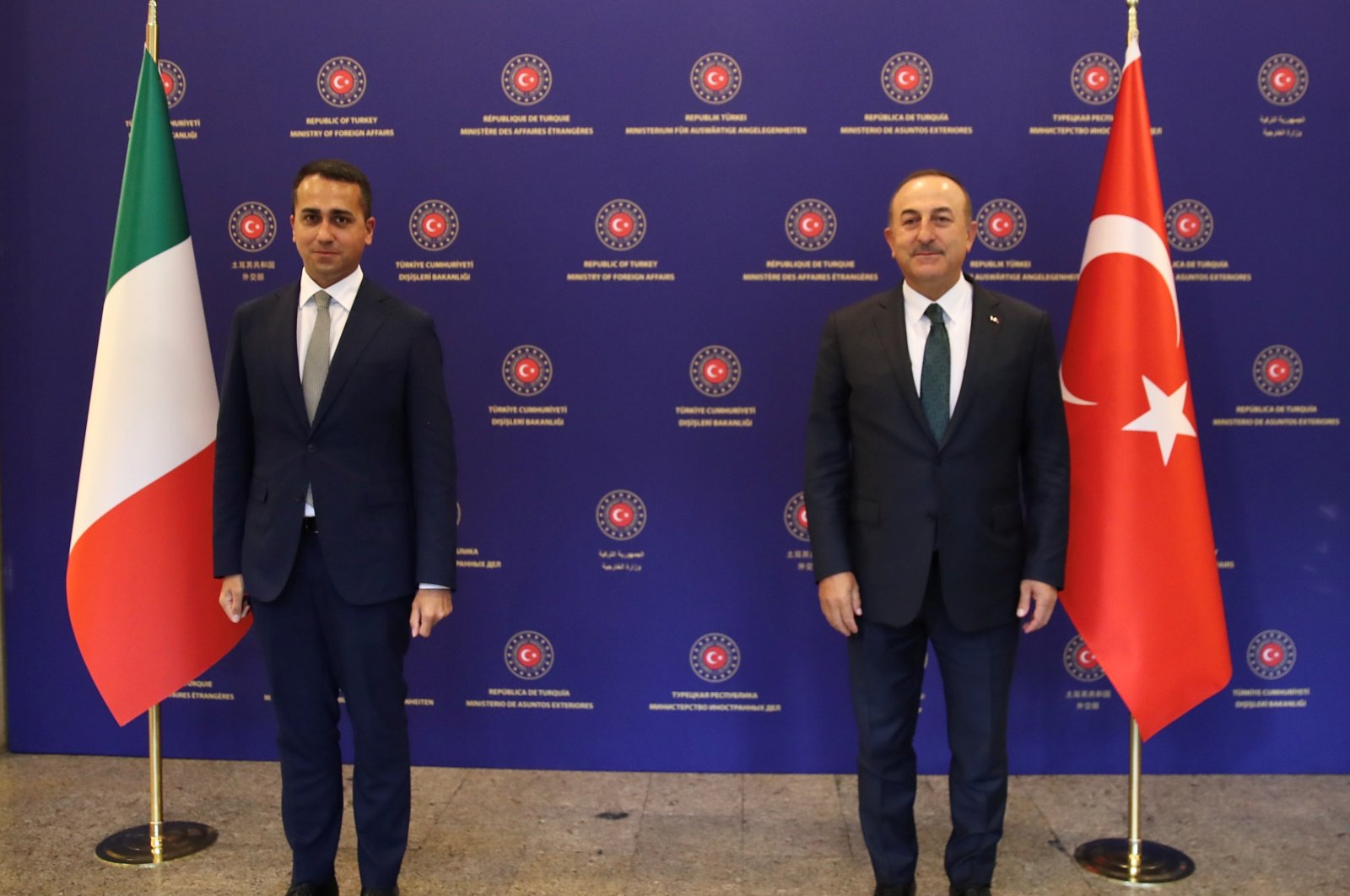 Foreign Minister Mevlüt Çavuşoğlu meets with his Italian counterpart Luigi Di Maio in Ankara, Turkey, June 19, 2020.