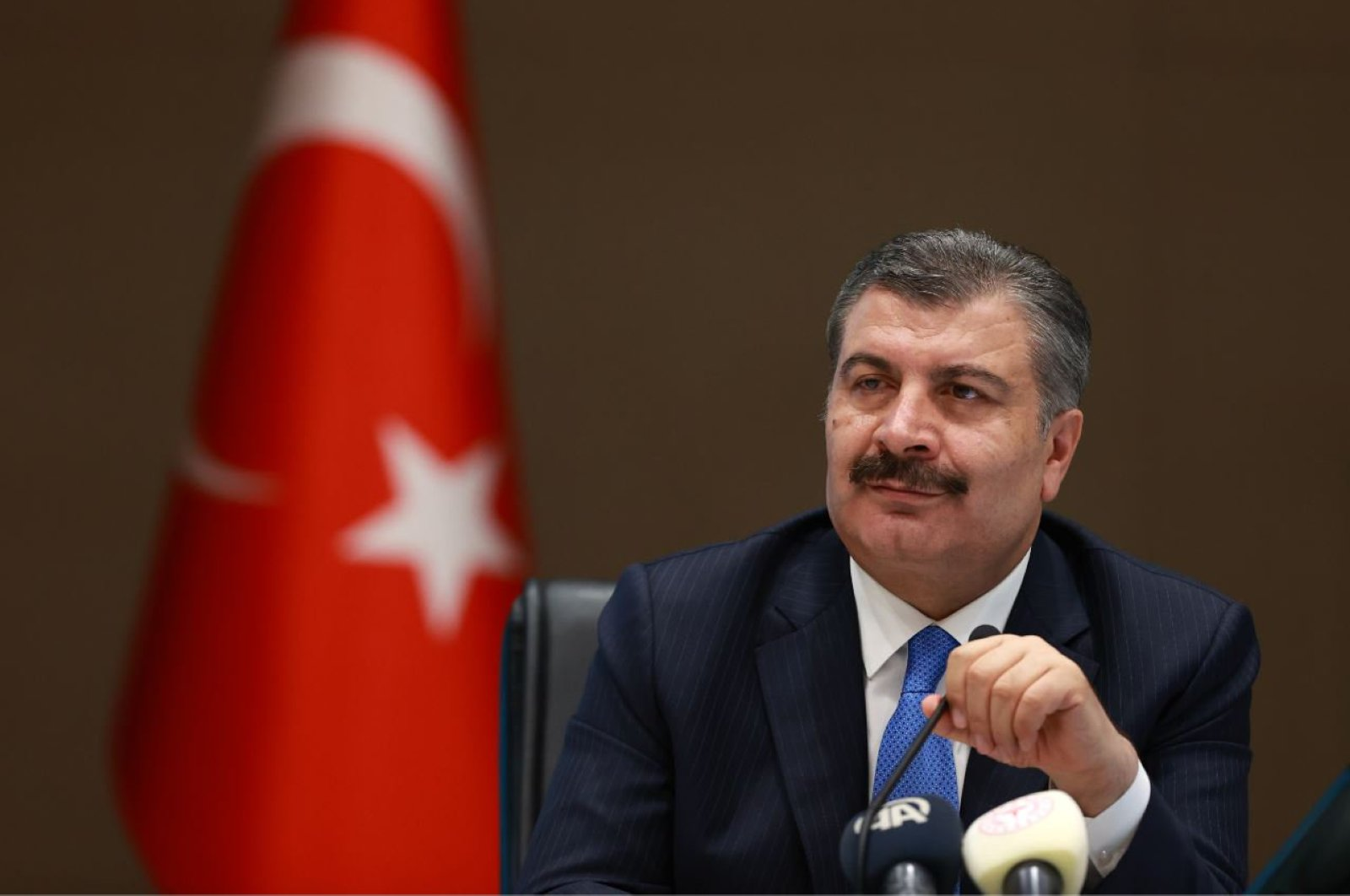 Health Minister Fahrettin Koca. (DHA Photo)