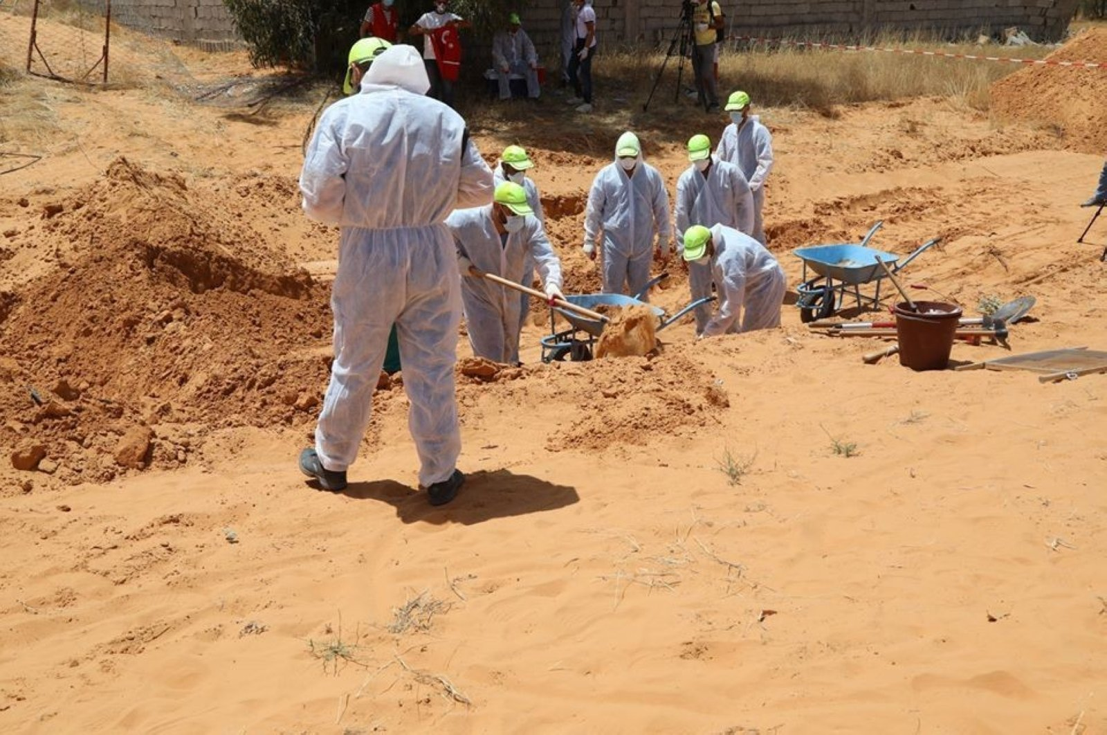 Mass graves have been found in areas liberated by Haftar forces in Libya. (İHA Photo)