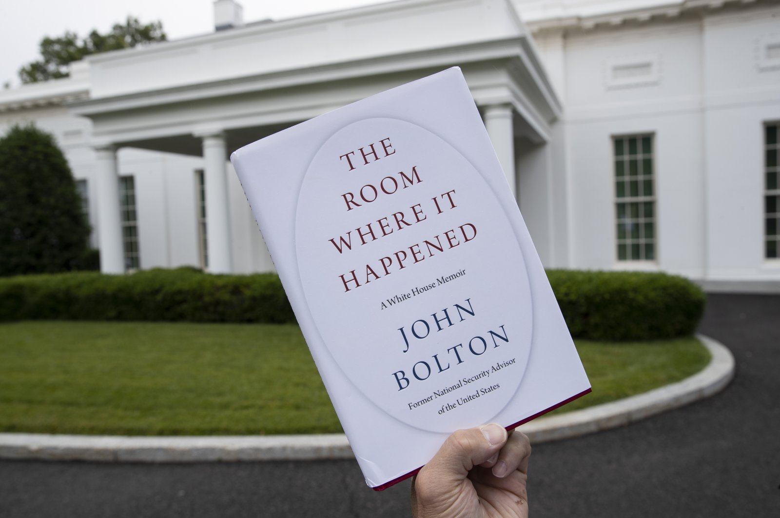"""A copy of """"The Room Where It Happened,"""" by former national security adviser John Bolton, is photographed at the White House, Washington, June 18, 2020. (AP Photo)"""
