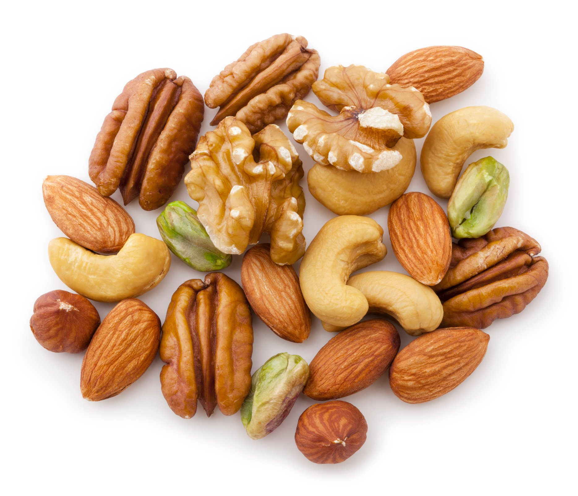 Walnuts, pecans, almonds, hazelnuts and pistachios are great sources of healthy fats. (iStock Photo)