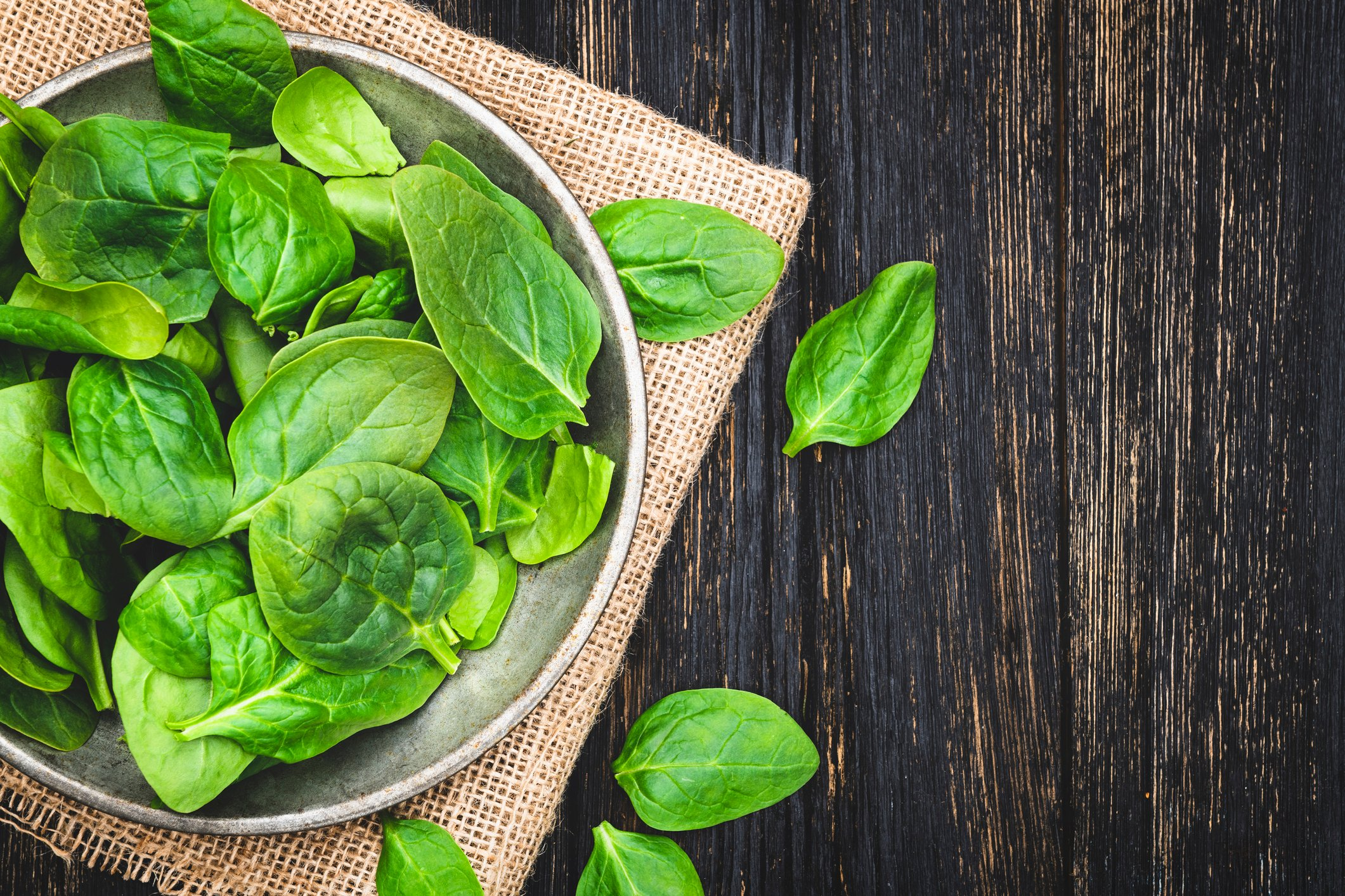 Spinach is great source of iron, folate and magnesium. (iStock Photo)
