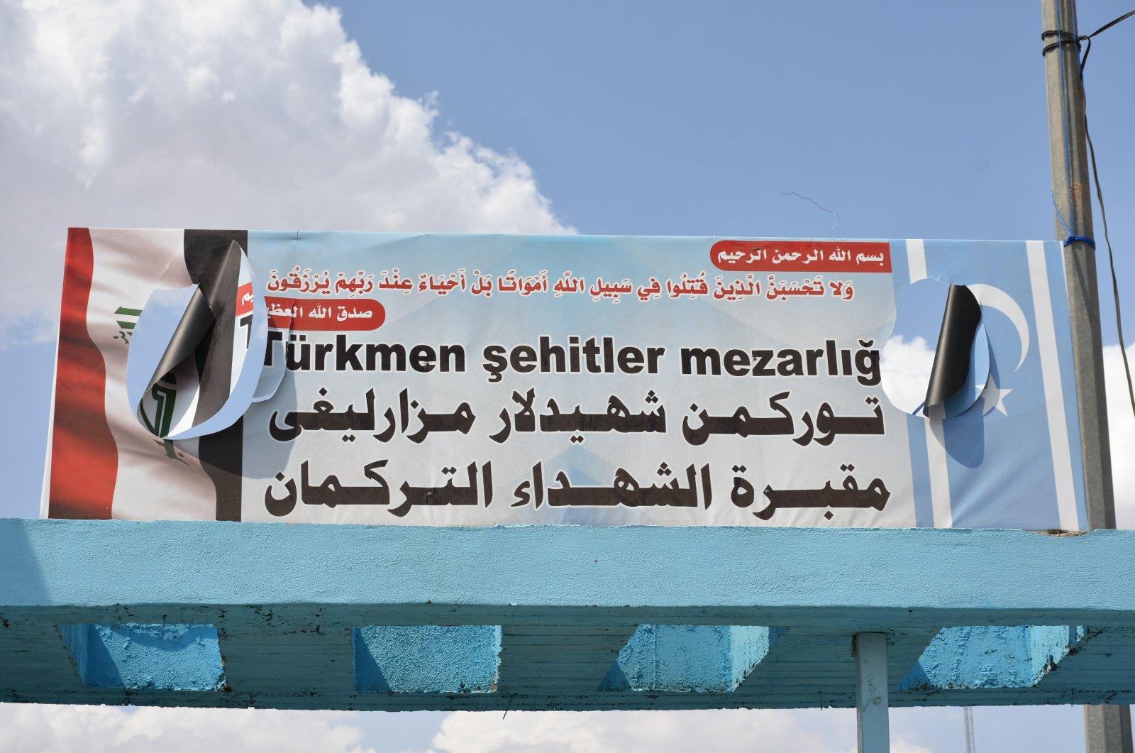 The Turkmen martyrs' cemetery in northern Iraq's Kirkuk, June 20, 2020. (AA Photo)