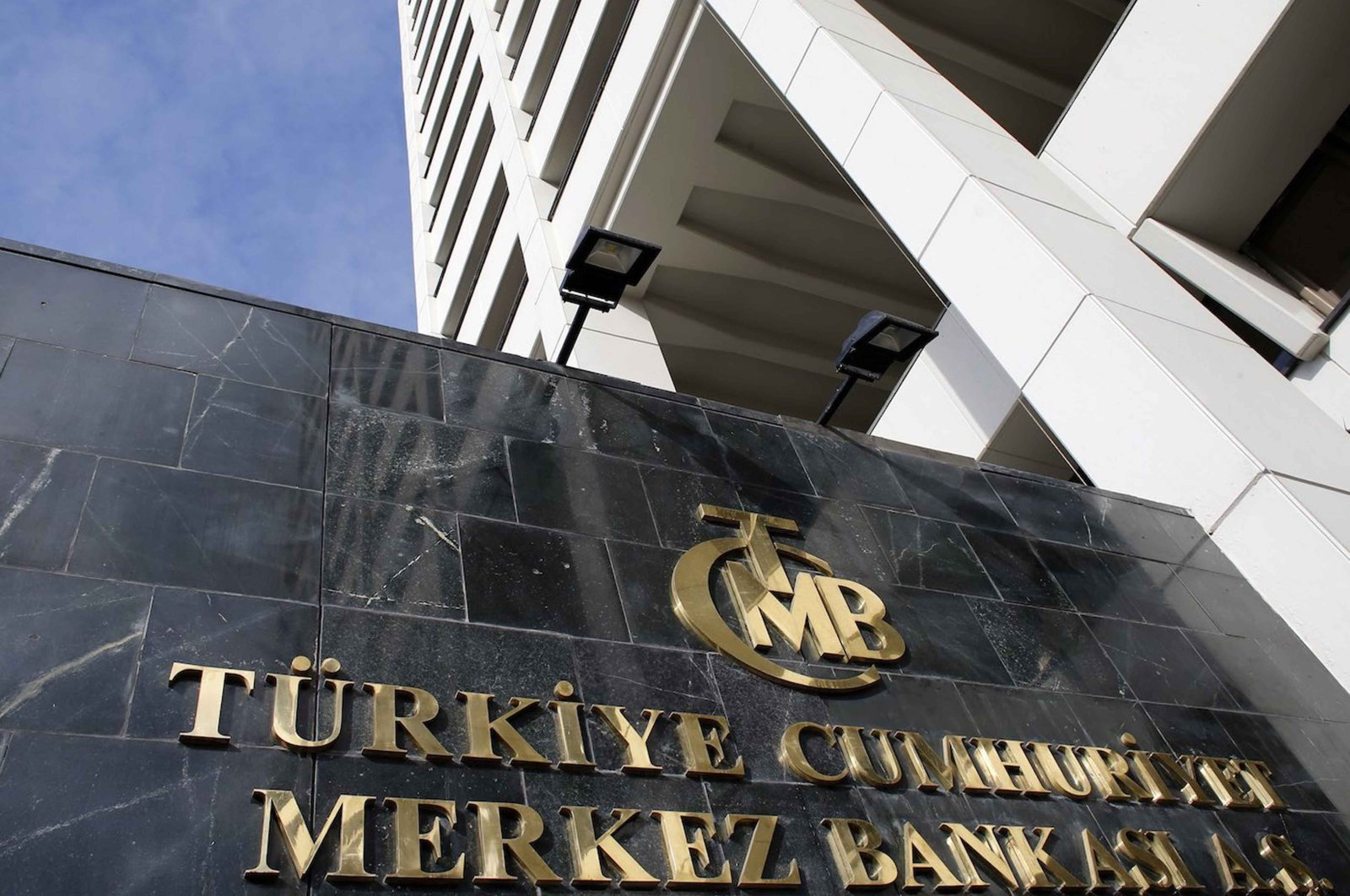 The headquarters of the Central Bank of the Republic of Turkey (CBRT) is seen in Ankara. (Reuters Photo)