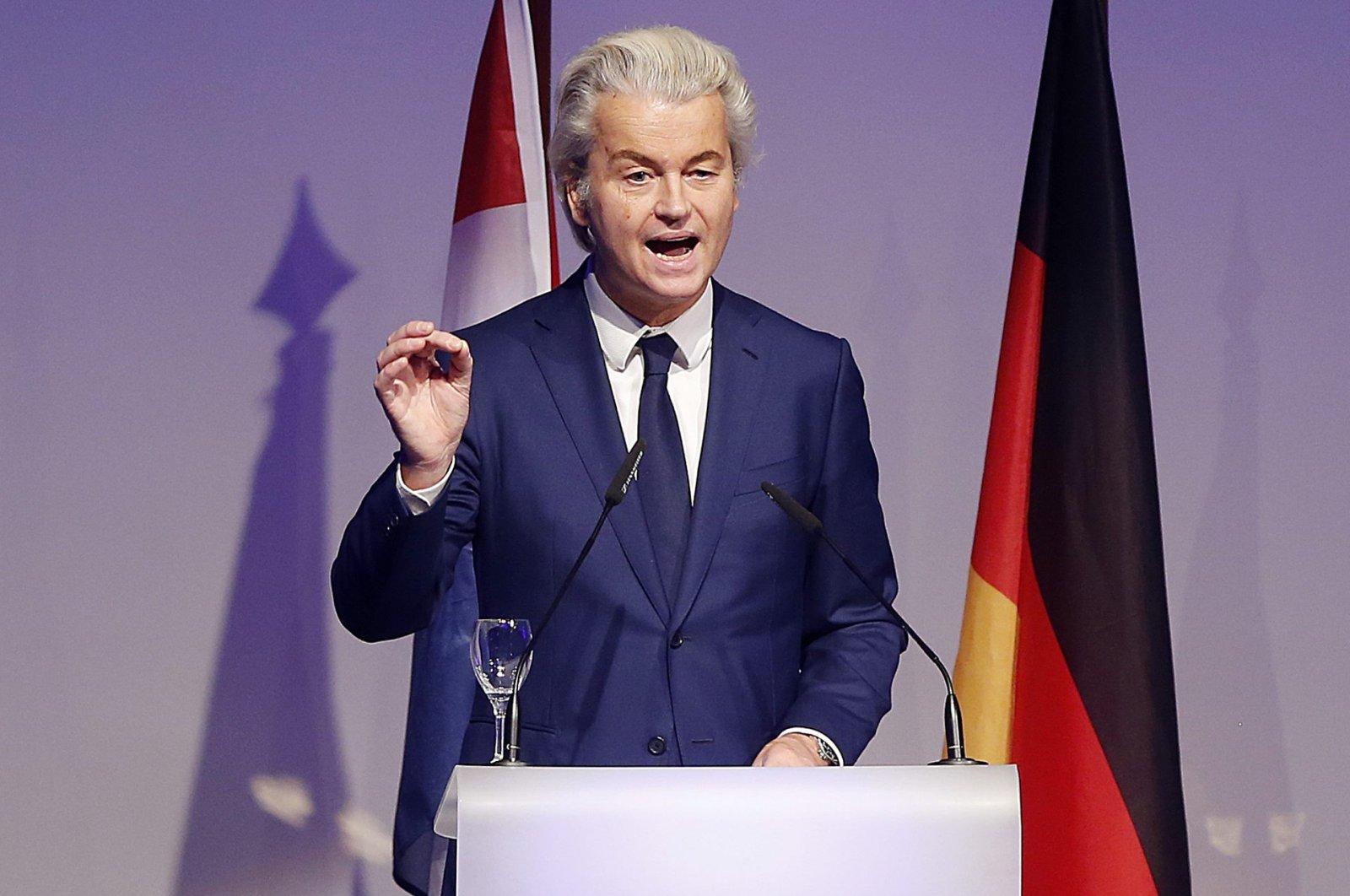 Dutch populist, anti-Islam lawmaker Geert Wilders delivers a speech at a meeting of European Nationalists in Koblenz, Germany, Jan. 21, 2017. (AP File Photo)