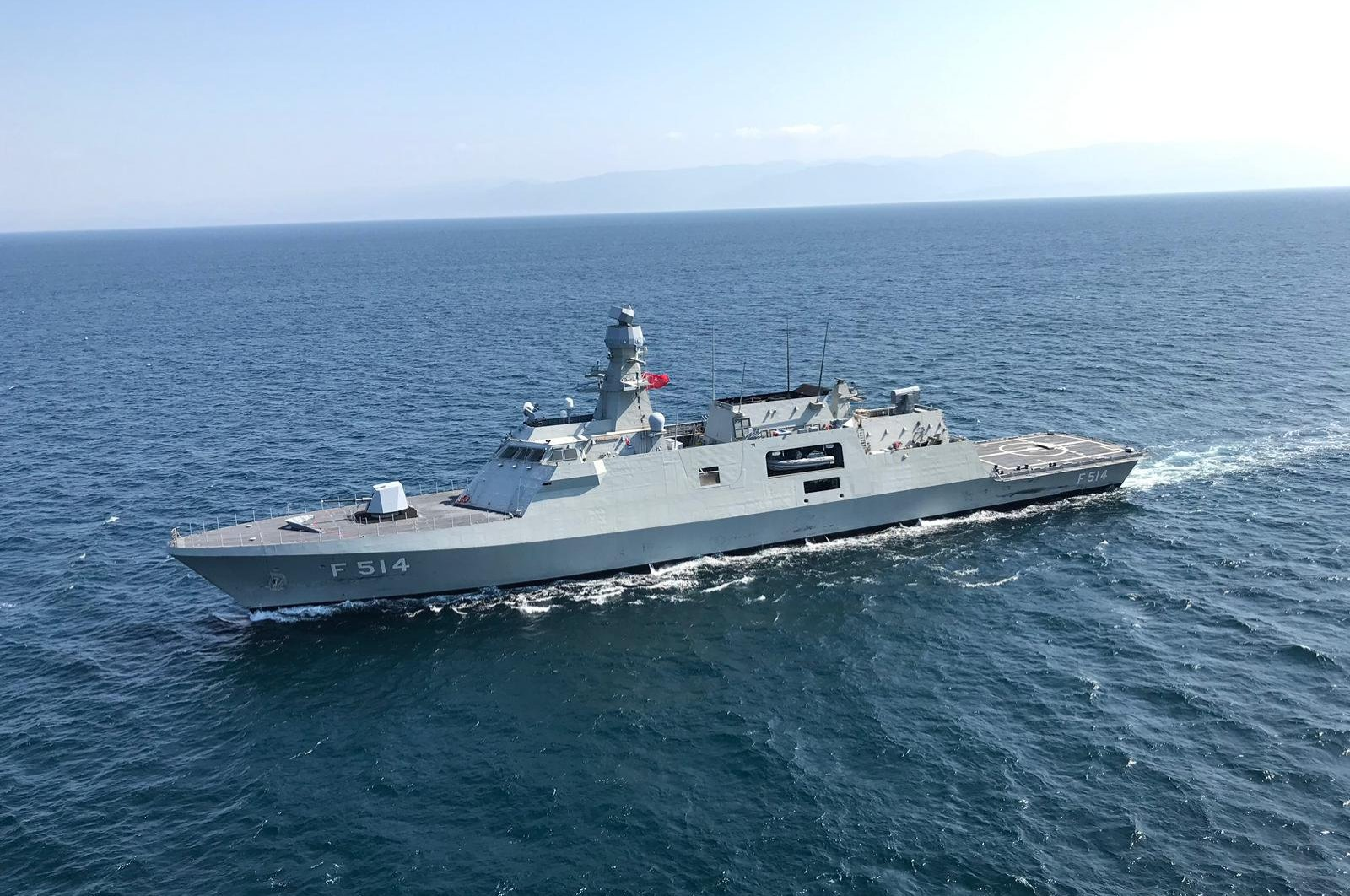 TCG Kınalıada of the Turkish Naval Forces, the fourth vessel of the MILGEM Project, seen in this undated file photo. (AA Photo)