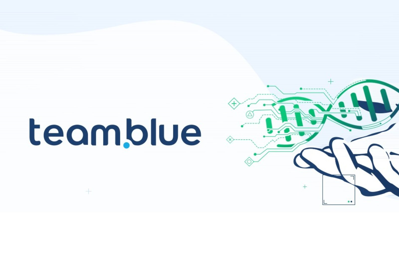 The logo of team.blue, which announced that it acquired Turkish network provider Natro on June 22, 2020. (Courtesy of team.blue)