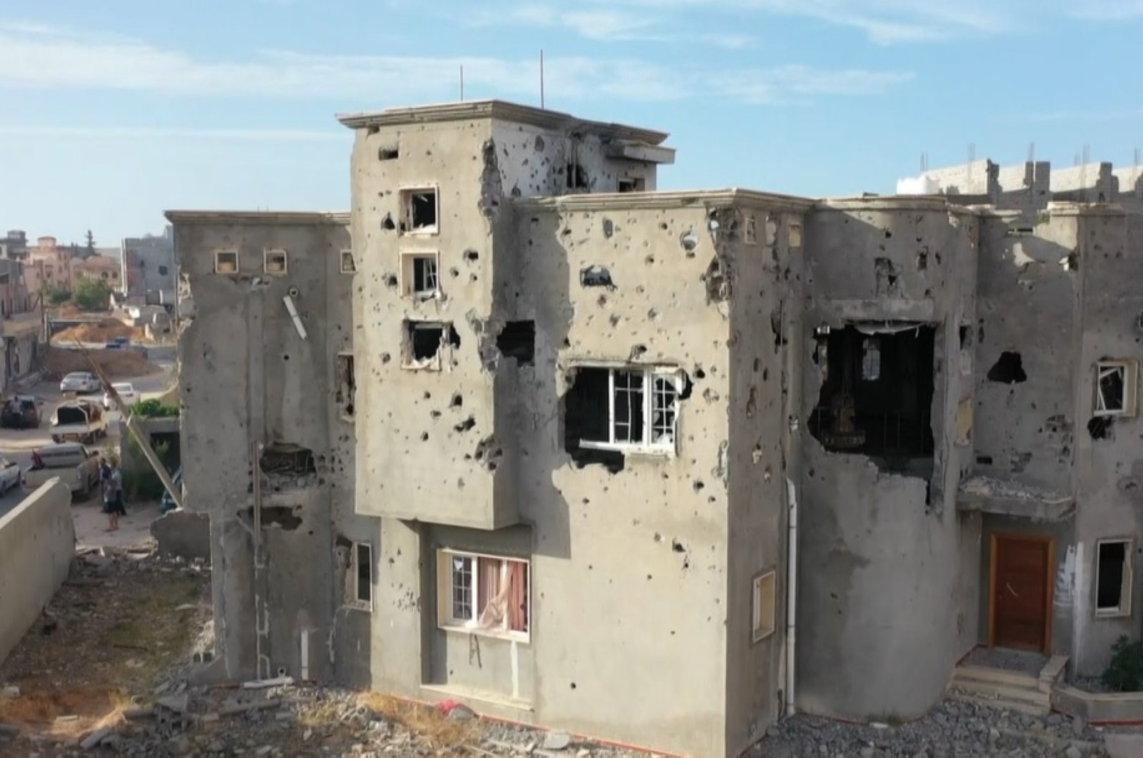 Putschist Gen. Khalifa Haftar's offensive on Libya's internationally recognized government has left many settlements in ruins south of Tripoli, June 17, 2020 (AA Photo)
