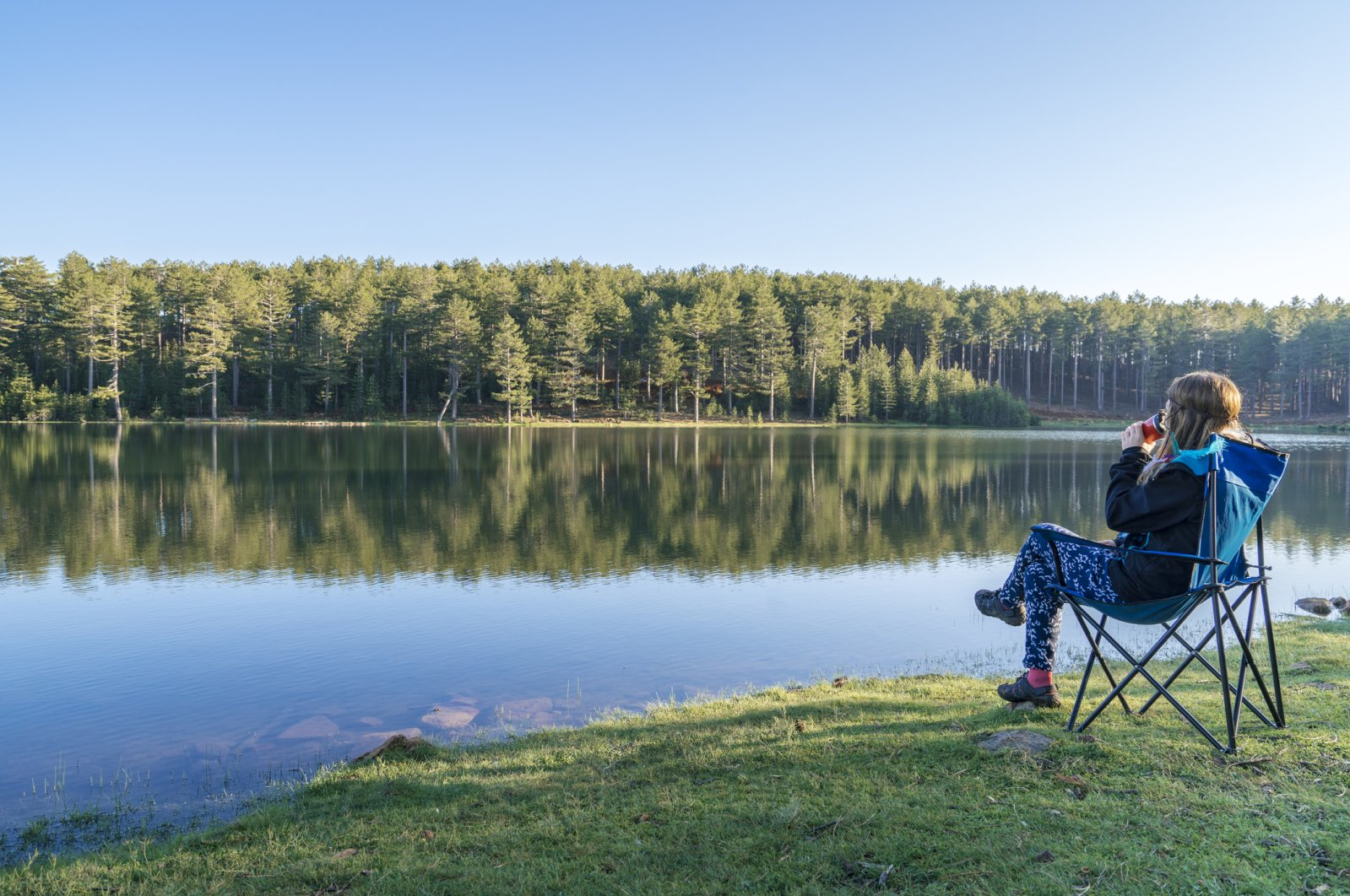 Tea, trees and tranquility, the three T's of camping out in nature. (iStock Photo)