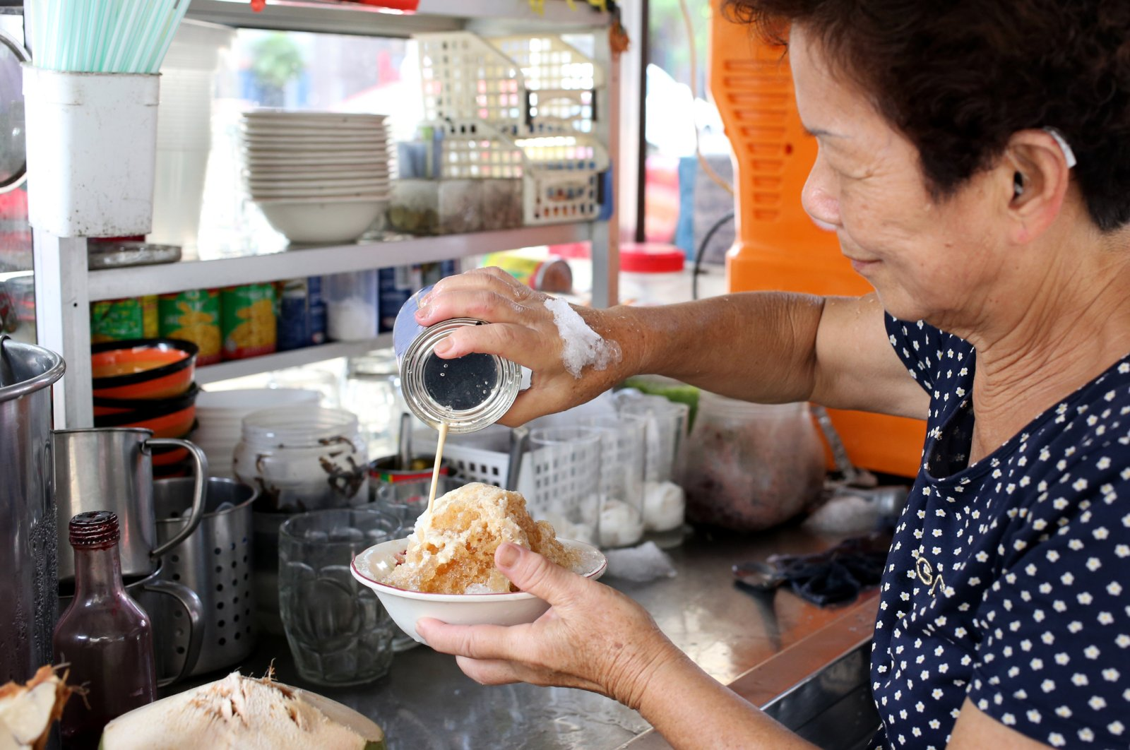 From molasses and syrups to evaporated milk, shaved ice can be flavored with many ingredients. (iStock Photo / Alex Liew)