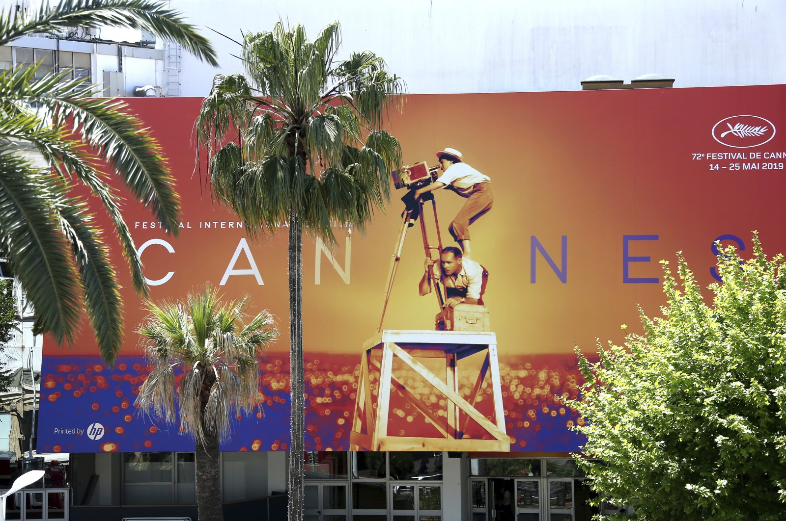 A view of the Palais des Festivals during the 72nd Cannes Film Festival in Cannes, southern France, May 13, 2019. (AP Photo)