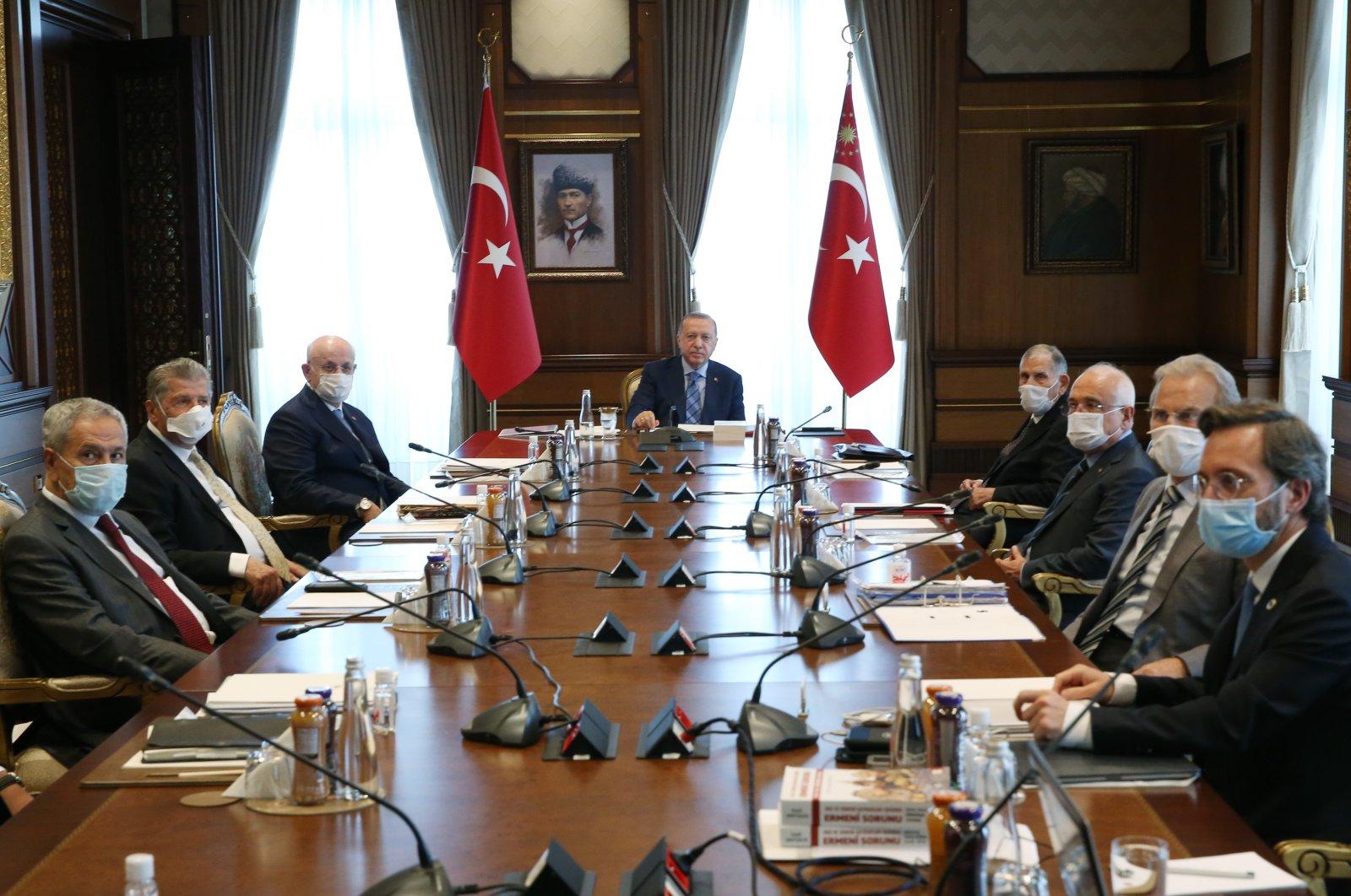 President Recep Tayyip Erdoğan heads a High Advisory Board meeting at the Presidential Complex in Ankara, June 16, 2020. (AA Photo)