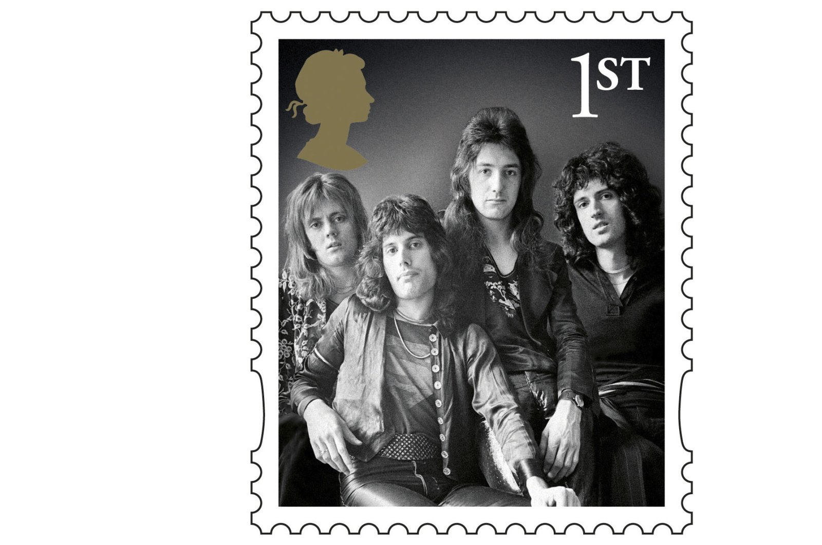 A design for one of a series of stamps issued by Royal Mail as a tribute to the band Queen. (Reuters Photo)