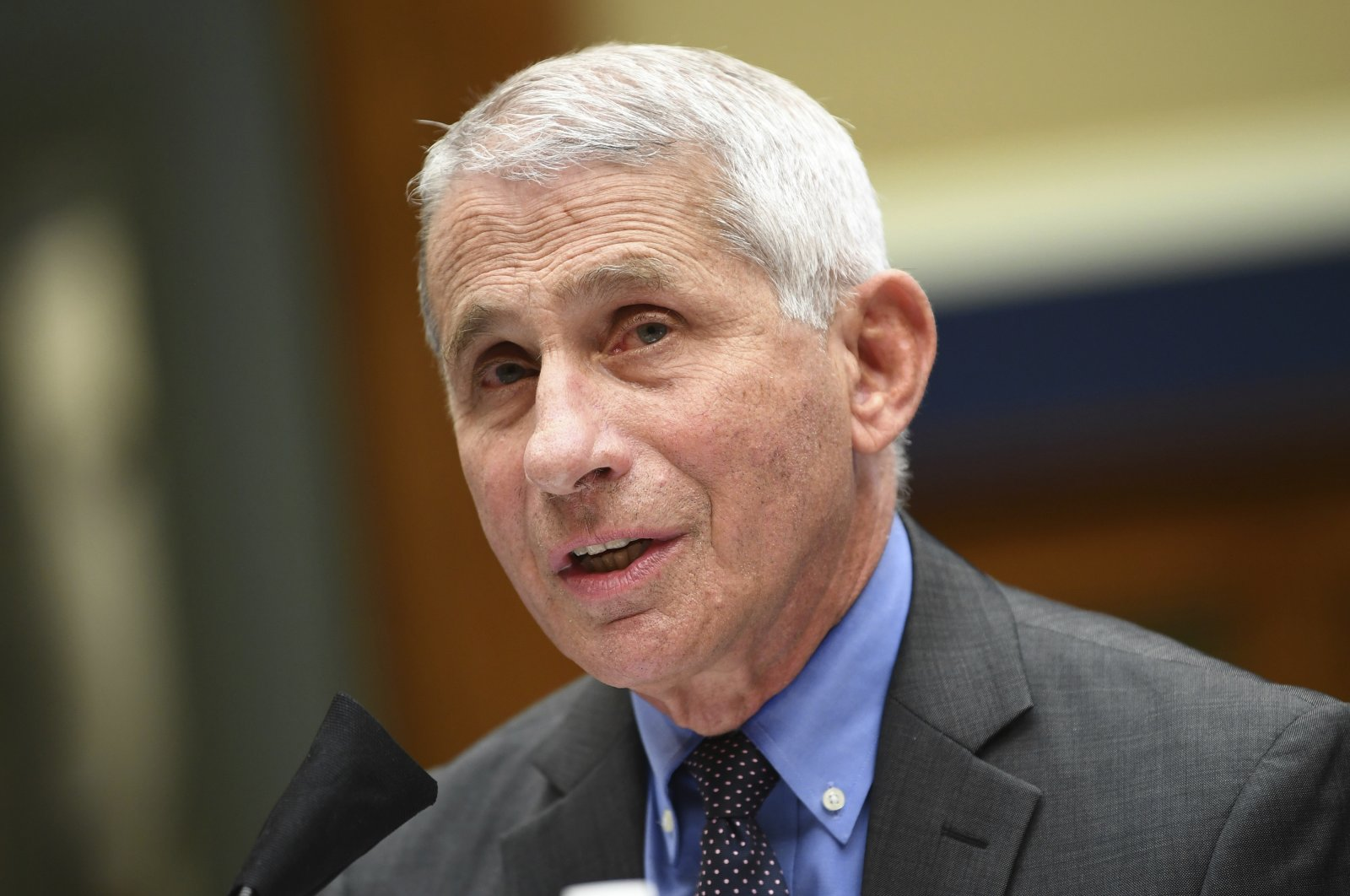 Director of the National Institute of Allergy and Infectious Diseases Dr. Anthony Fauci testifies before a House Committee on Energy and Commerce on the Trump administration's response to the COVID-19 pandemic on Capitol Hill in Washington on Tuesday, June 23, 2020. (Pool via AP)
