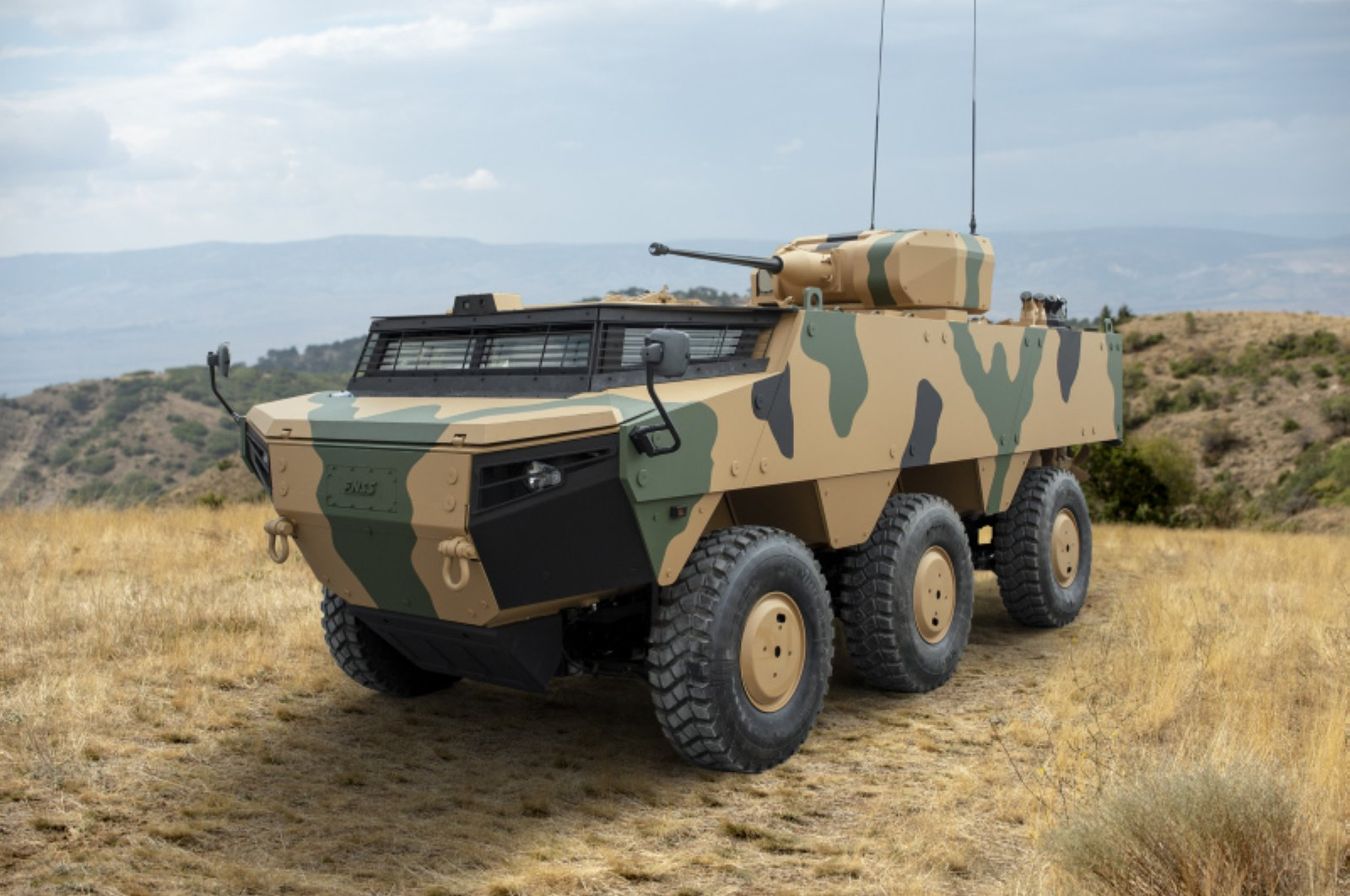 The new generation tank destroyer vehicle, Kaplan of the Turkish defense firm FNSS. (Photo by the FNSS via AA)