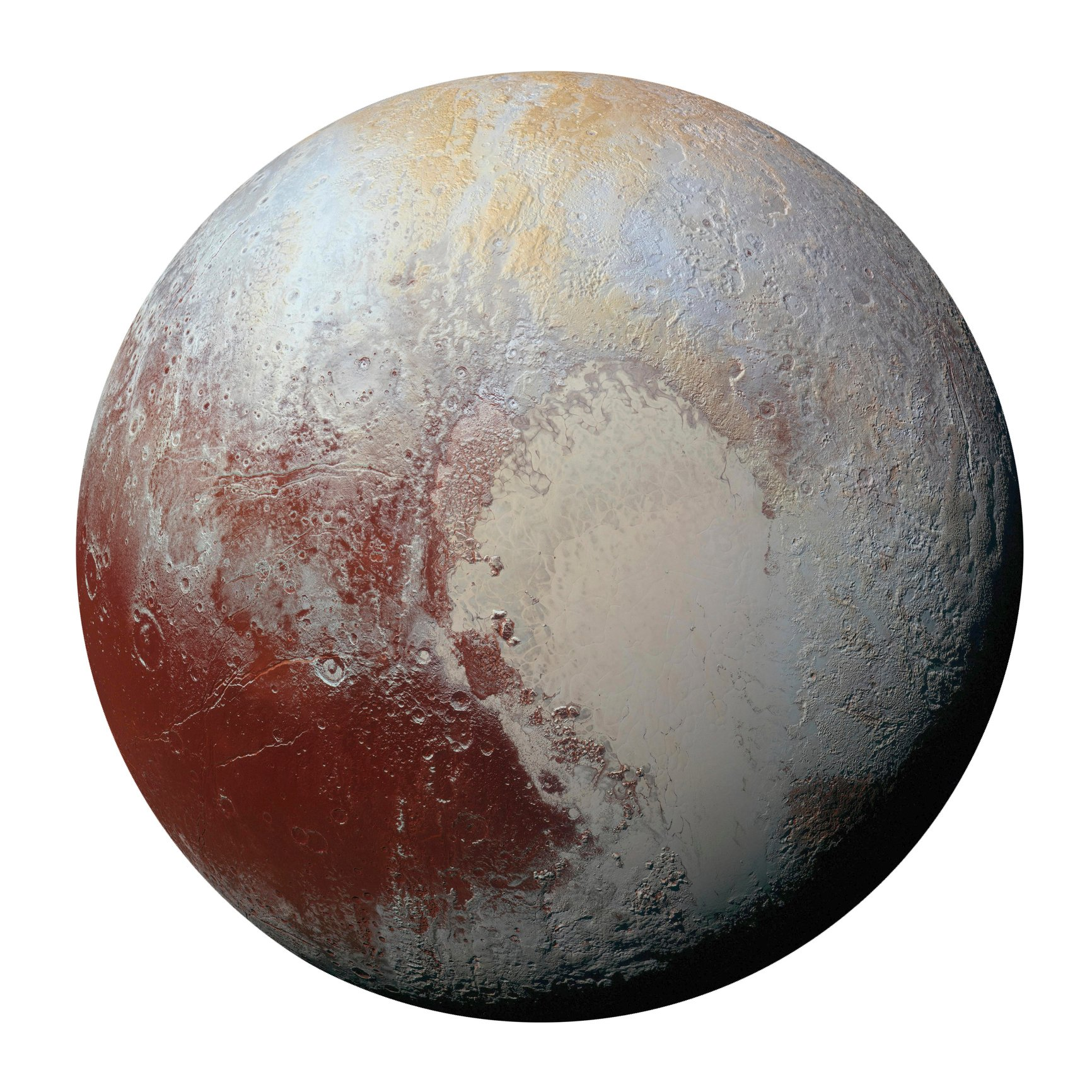 Pluto's surface has a lot of colors, but