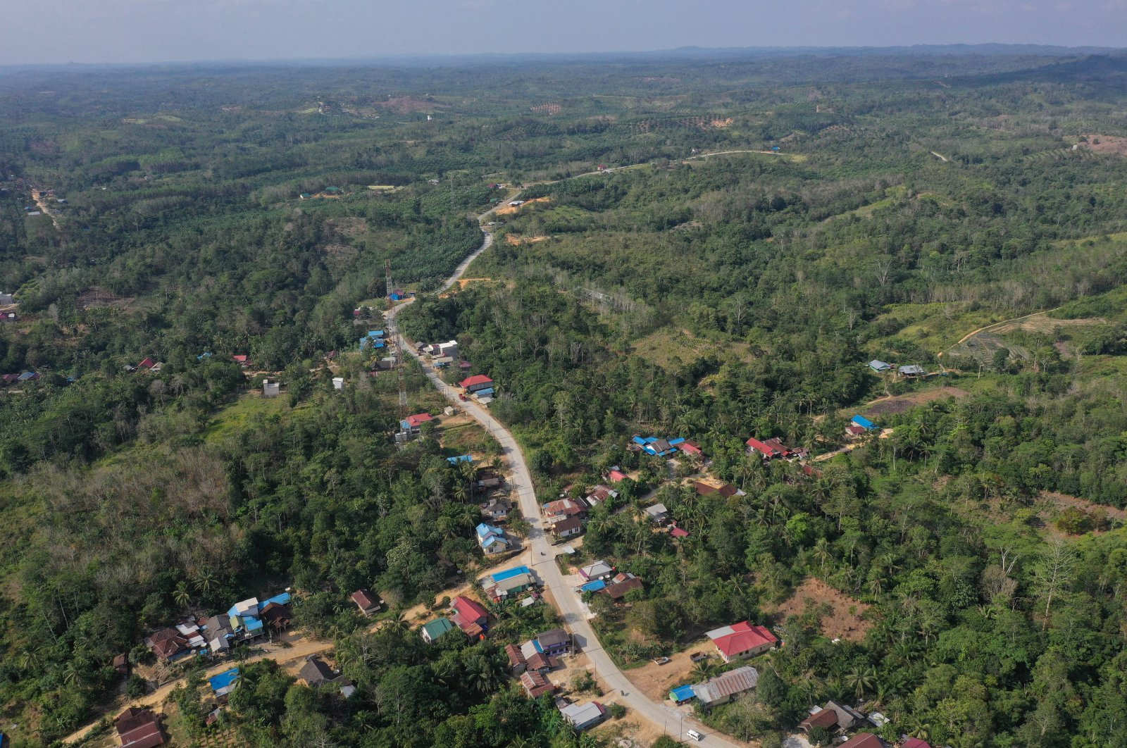 An aerial view of Sepaku district in North Penajam Paser, East Kalimantan province, Indonesia, Aug. 28, 2019. (Reuters Photo)