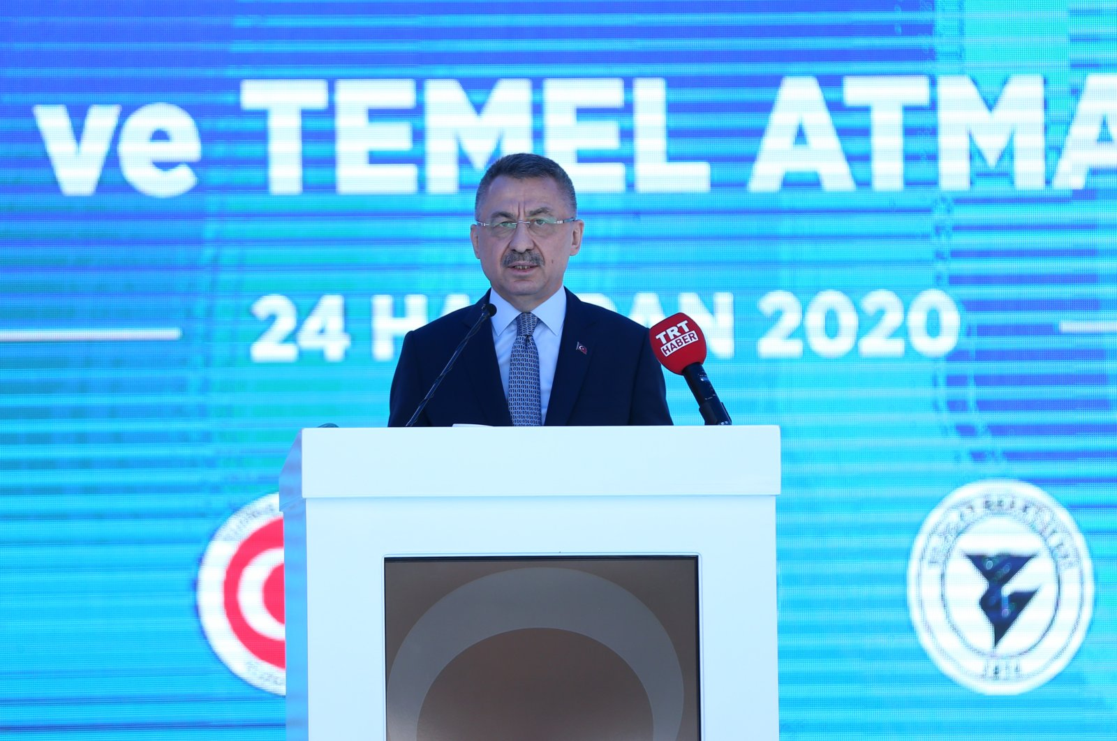 Vice President Fuat Oktay speaks during an inauguration ceremony in central Turkey's Yozgat, June 24, 2020. (AA Photo)