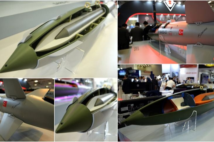 SERT-82 and SARB-83 ammunitions developed by the TÜBİTAK SAGE are displayed at the 14th International Defense Industry Fair (IDEF'19) between April 30 and May 3, 2019, in Istanbul, Turkey.  (AA Photo)