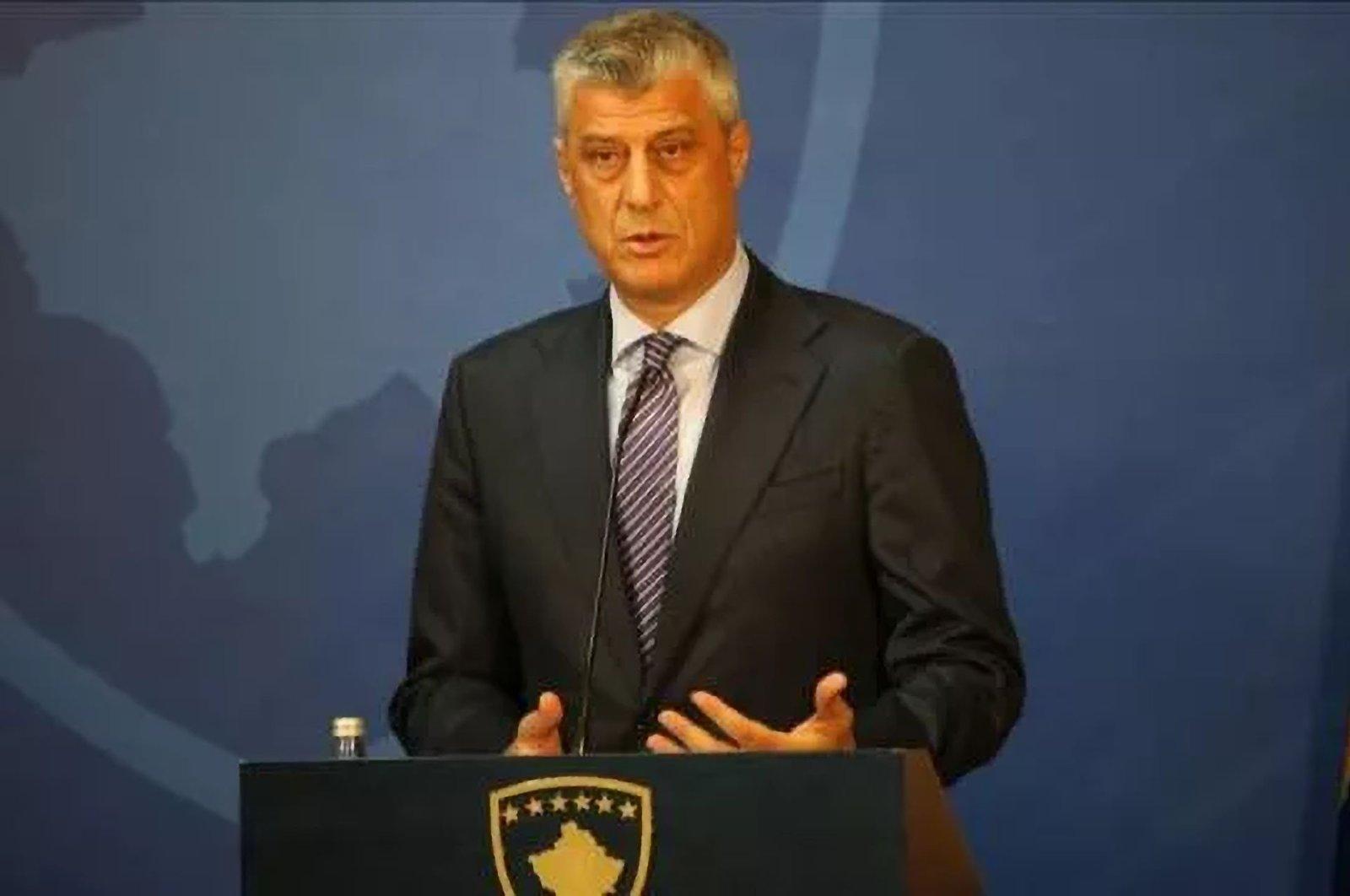 Kosovo President Hashim Thaci. (File Photo)