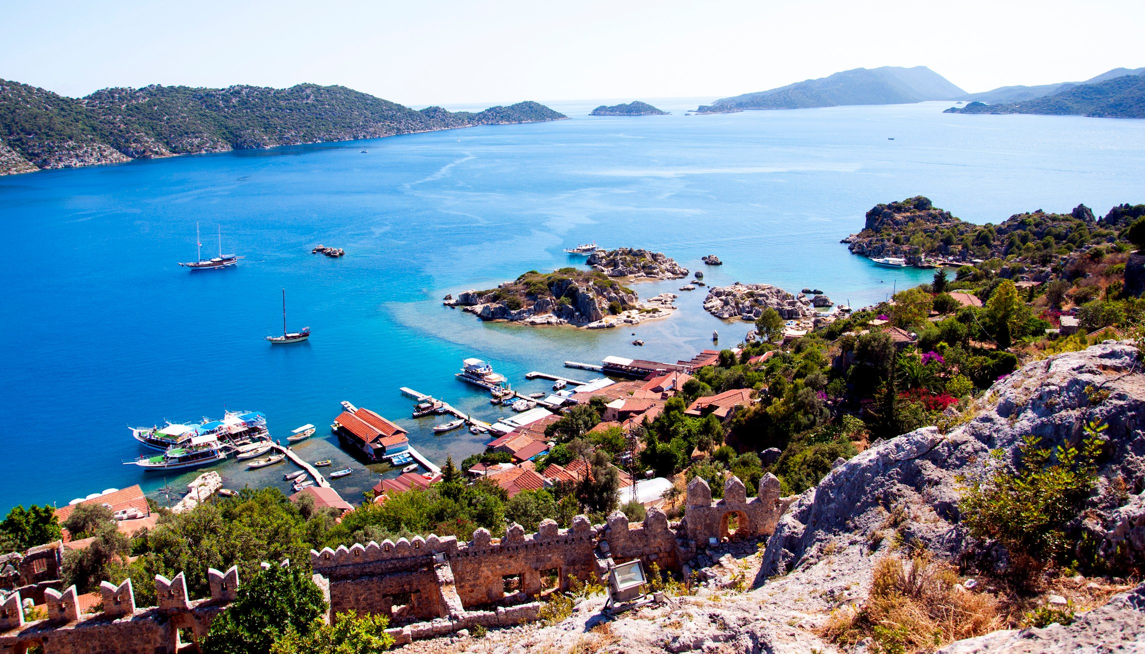 Located between Kaş and Kale on the Mediterranean coast, the ancient village of Kaleköy (Simena) is a great place to stop by. (Saadet Alkan / iStock)