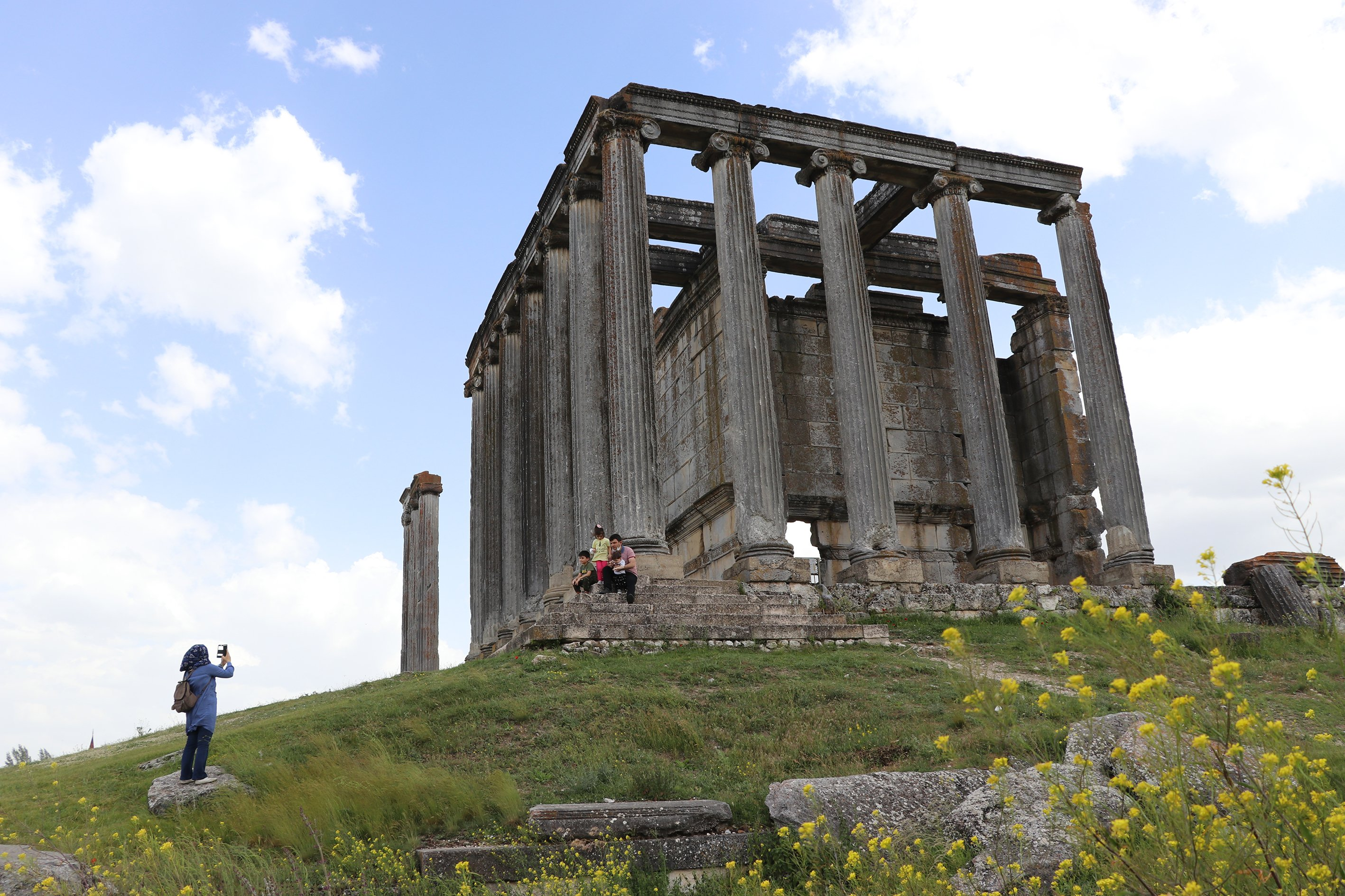 The Temple of Zeus is one of the best-preserved temples in Anatolia. (AA PHOTO)