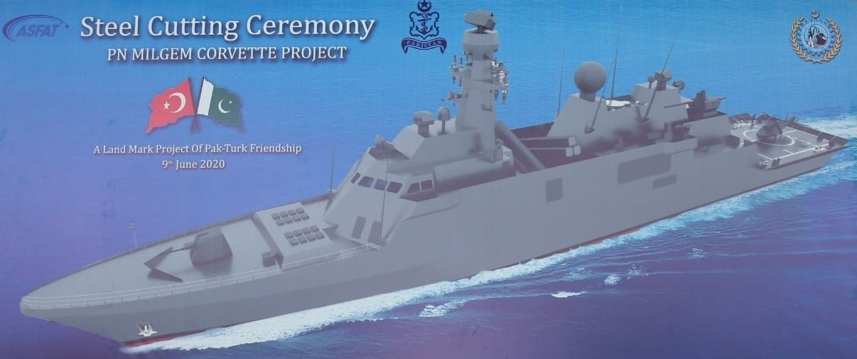 The illustration of the Pakistan Navy's MILGEM corvette. (Photo courtesy of Karachi Shipyard & Engineering Works )