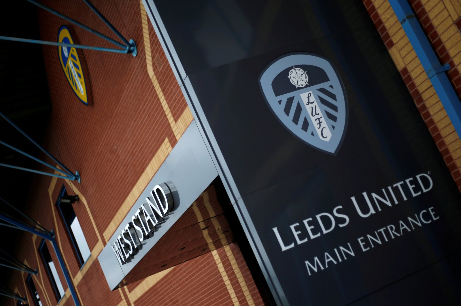 General view outside the Elland Road stadium, Leeds, Britain, Aug. 31, 2019. (Reuters Photo)