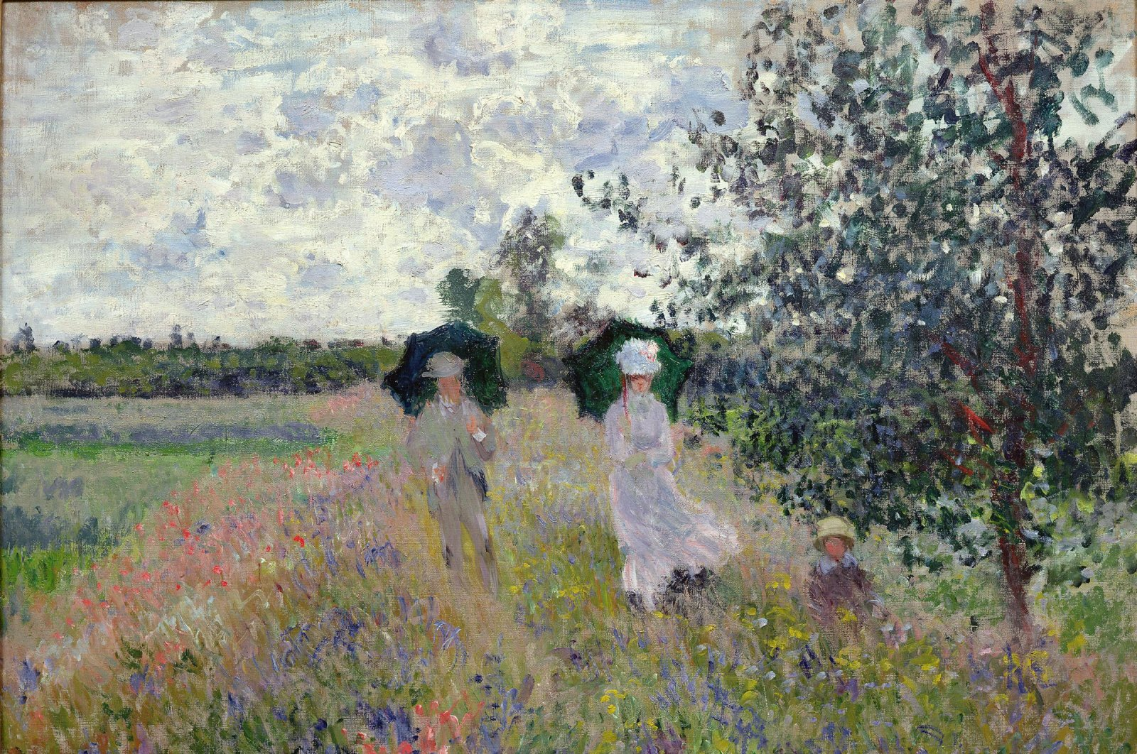 """Famous painting """"Taking a Walk near Argenteuil"""" takess place in the section of """"In Search of Giverny."""" (Courtesy of SSM)"""
