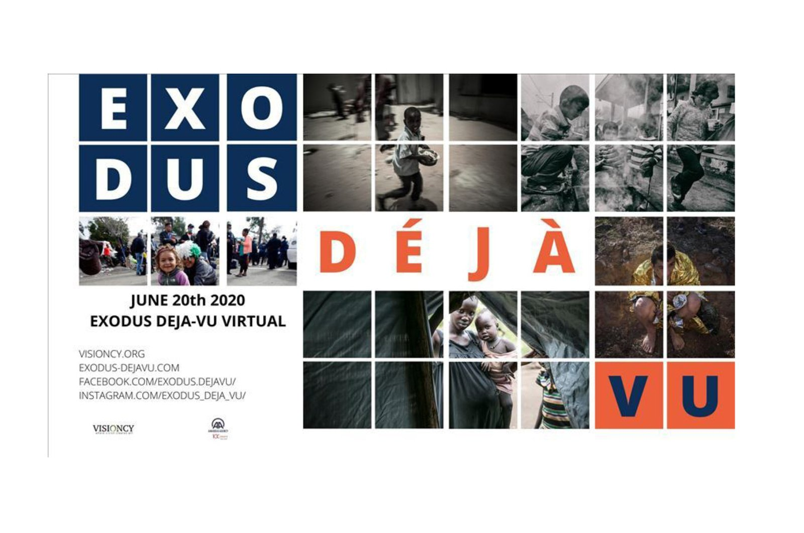 """The """"Exodus Deja-vu"""" exhibition features photos on refugee life by 11 successful photojournalists. (AA PHOTO)"""