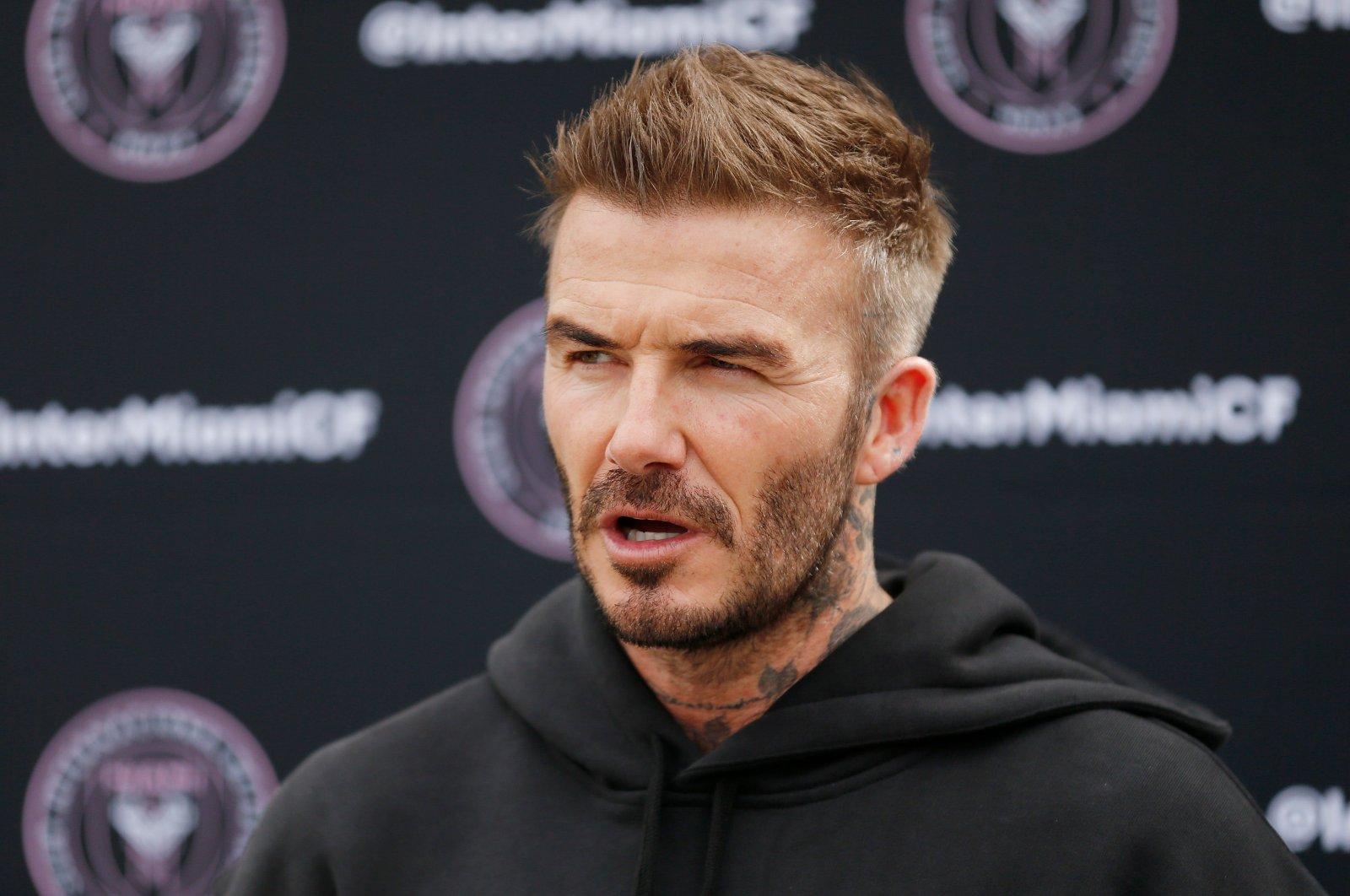 David Beckham speaks at a press event in Ft. Lauderdale, Fla., U.S., Feb. 24, 2020. (AFP Photo)