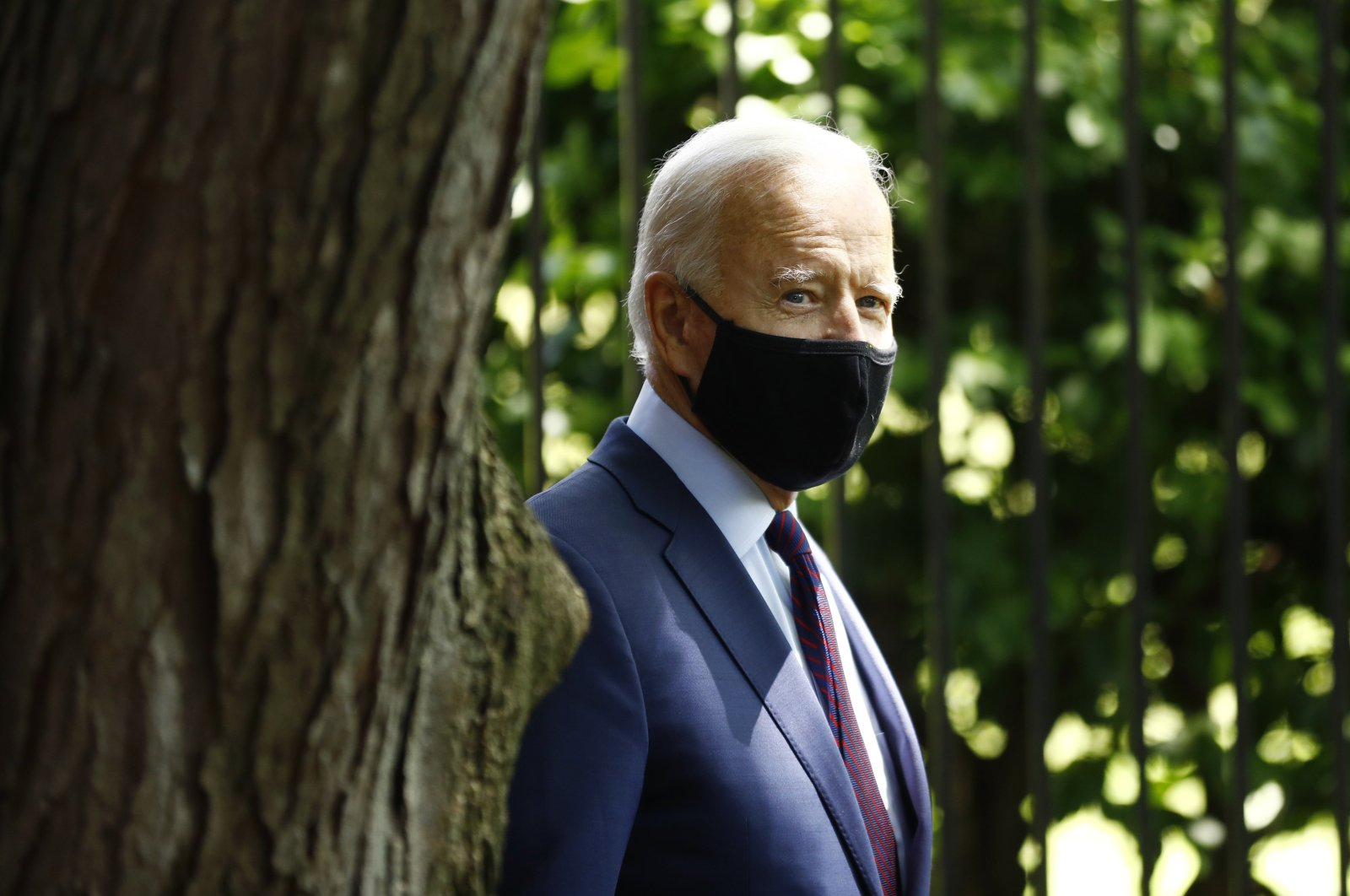 Democratic presidential candidate, former Vice President Joe Biden arrives to speak with families who have benefited from the Affordable Care Act, in Lancaster, Pa, June 25, 2020. (AP)