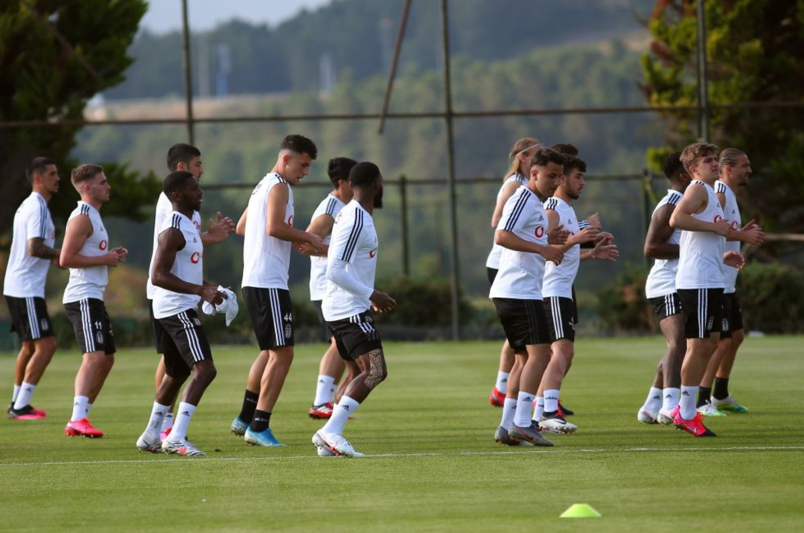 Beşiktaş players during a training session in Nevzat Demir facilities in Istanbul, Turkey, June 25, 2020. (DHA Photo)