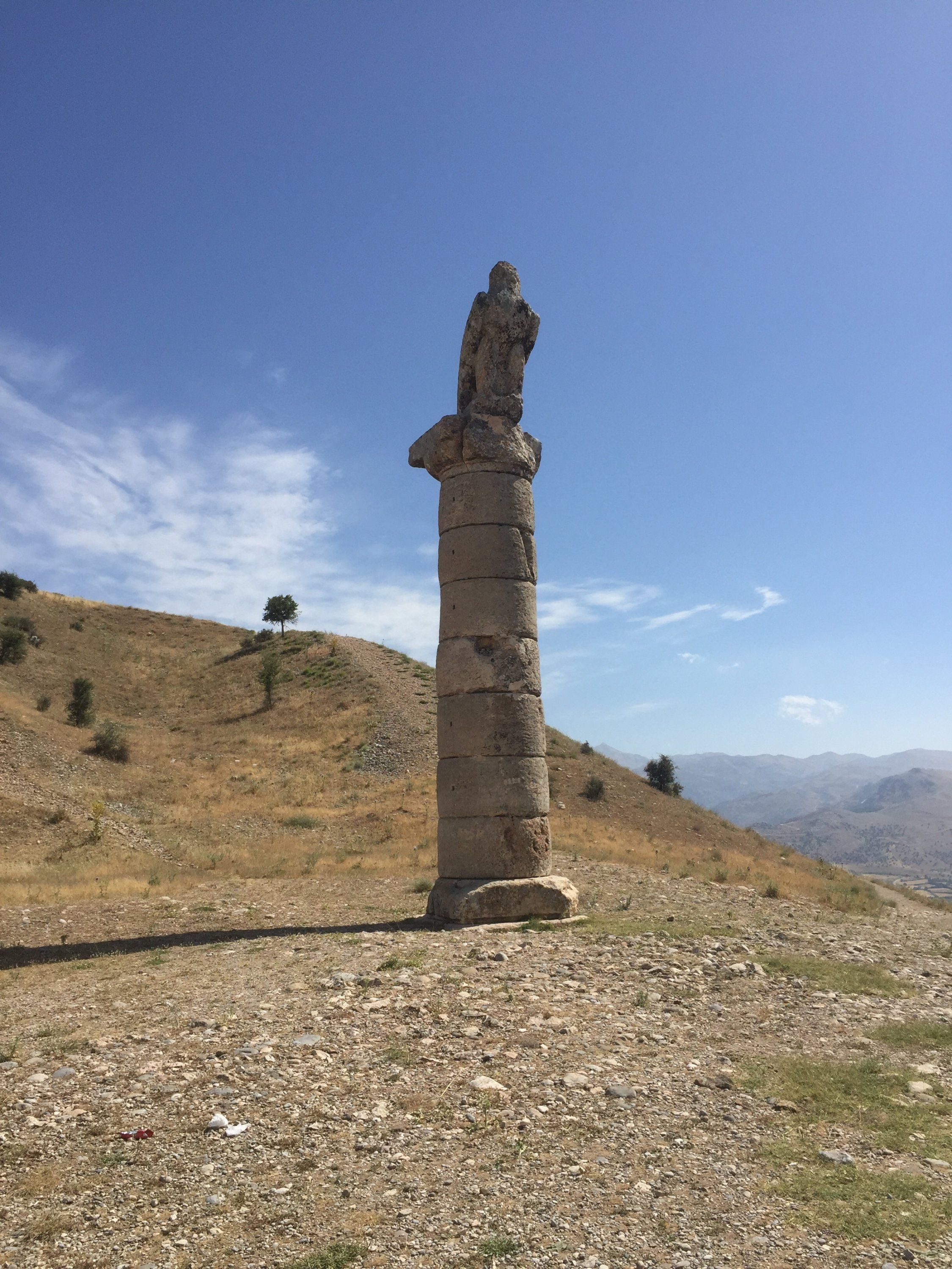 """The Karakuş Tumulus, the burial place of Antiochus' wife Isias who is depicted as a supernatural character in the Netflix series, """"Atiye"""" (The Gift). (Paris Achen / Daily Sabah)"""