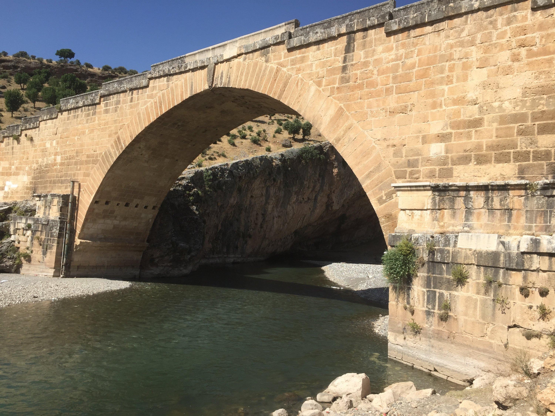 The Roman-era Bridge of Septimius Severus (Cendere Bridge) where the Cendere River and Cendere Creek meet in Adıyaman province, Turkey. The Roman emperor had the bridge built during his reign in 193-211 A.D., possibly to replace a preexisting bridge. (Paris Achen / Daily Sabah)