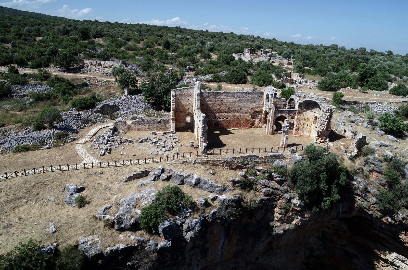 The ancient city of Kanlıdivane was a port where olive oil trade was common. (AA PHOTO)