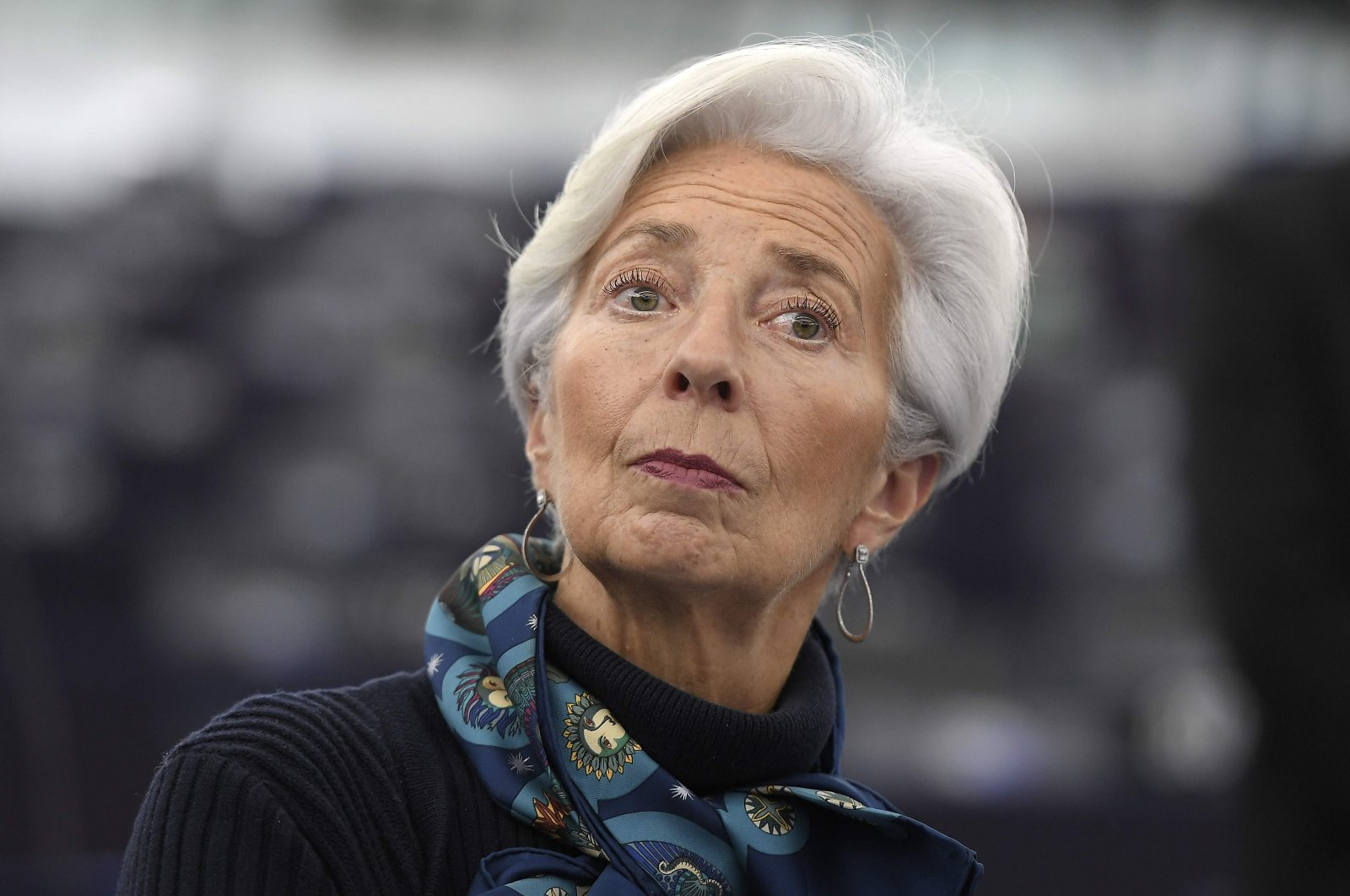 President of the European Central Bank (ECB) Christine Lagarde attends a debate on the eurozone's economic governance and ECB activities at the European Parliament in Strasbourg, eastern France, Feb. 11, 2020. (AFP Photo)