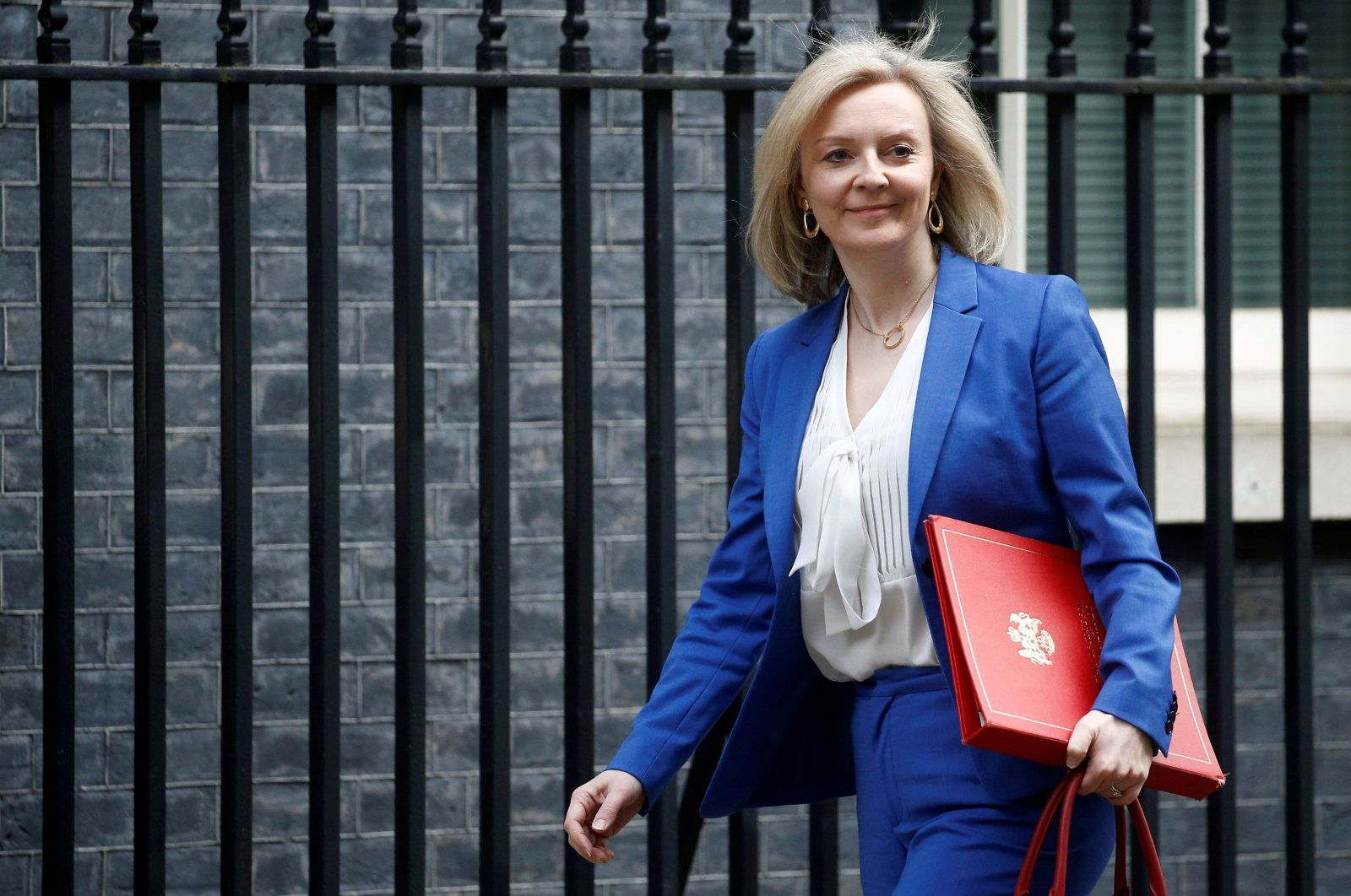 Britain's Secretary of State of International Trade and Minister for Women and Equalities Liz Truss is seen outside Downing Street, London, Britain, March 17, 2020. (Reuters Photo)