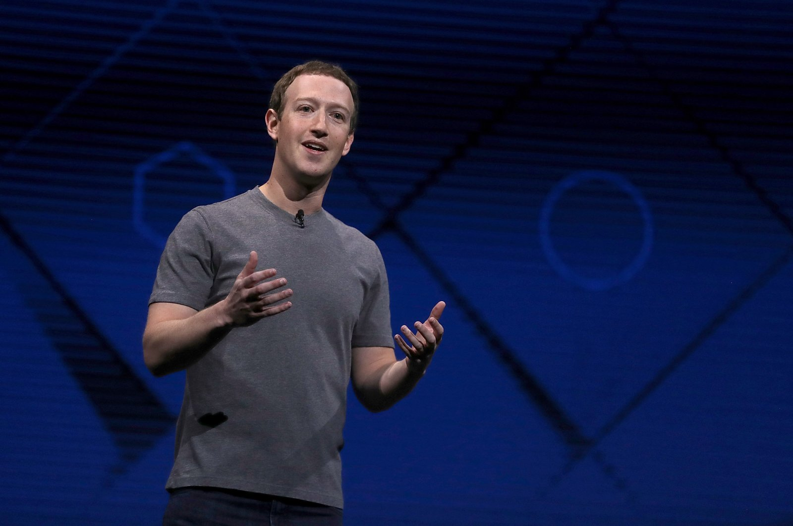 Facebook CEO Mark Zuckerberg delivers the keynote address at Facebook's F8 Developer Conference at McEnery Convention Center in San Jose, California, April 18, 2017. (Photo by Justin Sullivan/Getty Images)